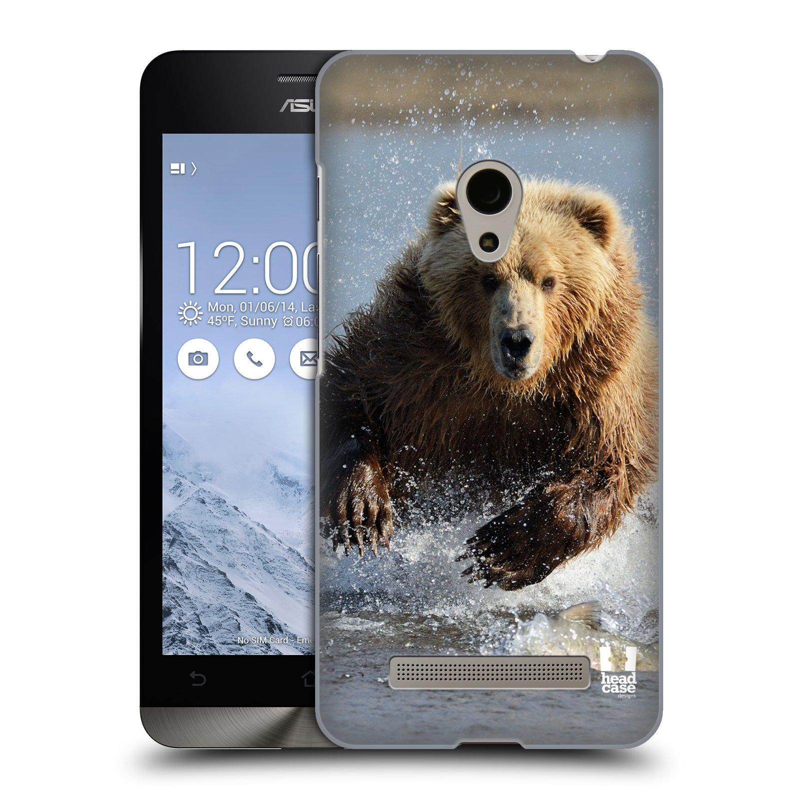 HEAD CASE plastový obal na mobil Asus Zenfone 5 vzor Divočina, Divoký život a zvířata foto MEDVĚD GRIZZLY HŇEDÁ