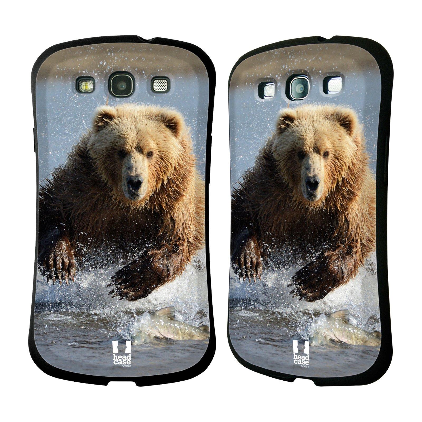 HEAD CASE silikon/plast odolný obal na mobil Samsung Galaxy S3 vzor Divočina, Divoký život a zvířata foto MEDVĚD GRIZZLY HŇEDÁ