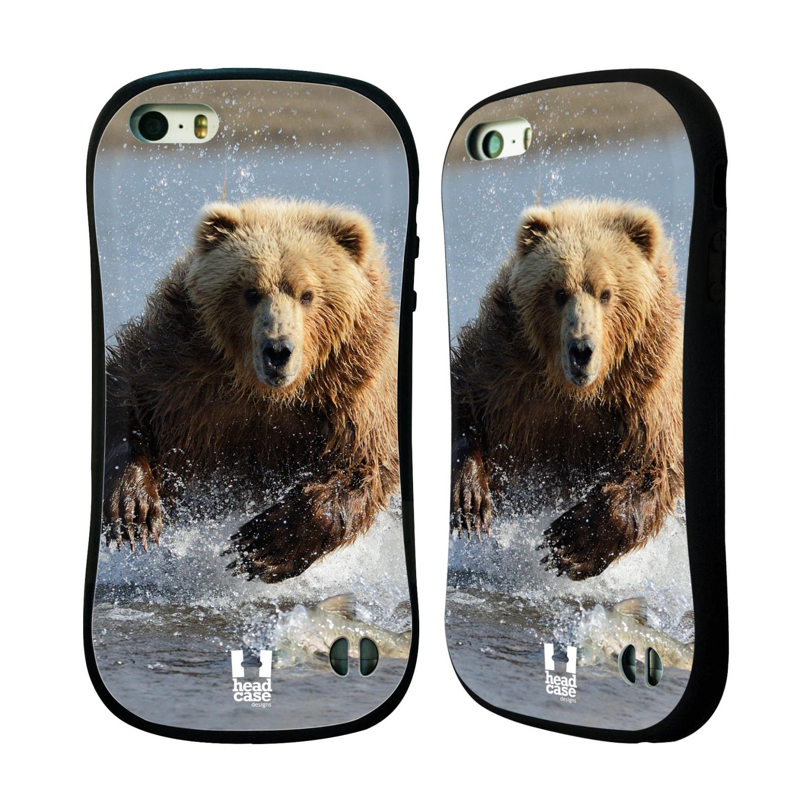 HEAD CASE silikon/plast odolný obal na mobil Apple Iphone 5/5S vzor Divočina, Divoký život a zvířata foto MEDVĚD GRIZZLY HŇEDÁ