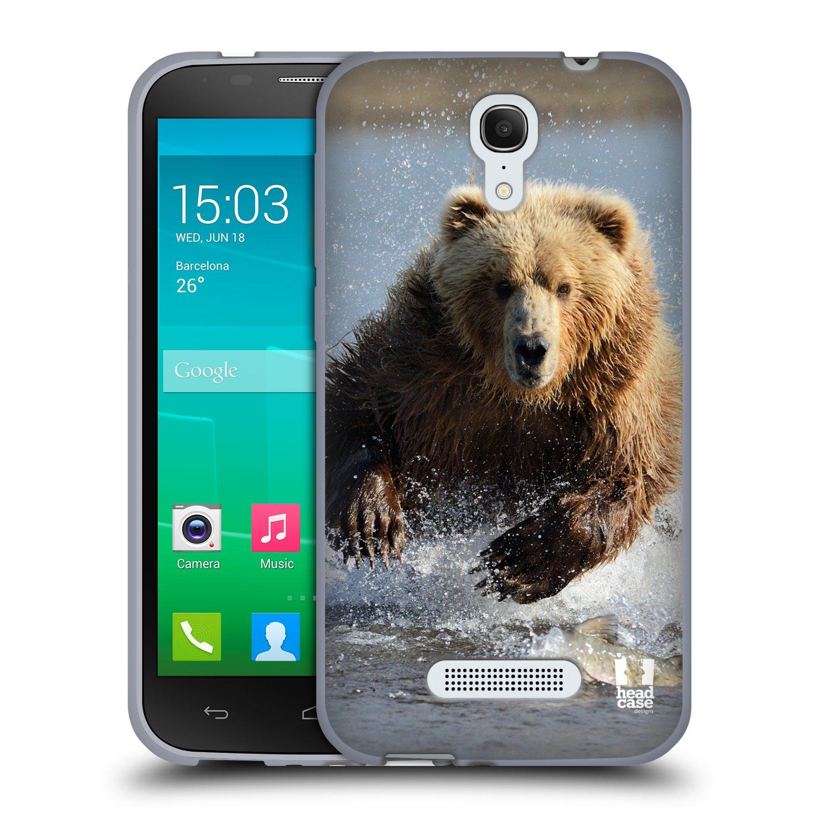 HEAD CASE silikonový obal na mobil Alcatel POP S7 vzor Divočina, Divoký život a zvířata foto MEDVĚD GRIZZLY HŇEDÁ