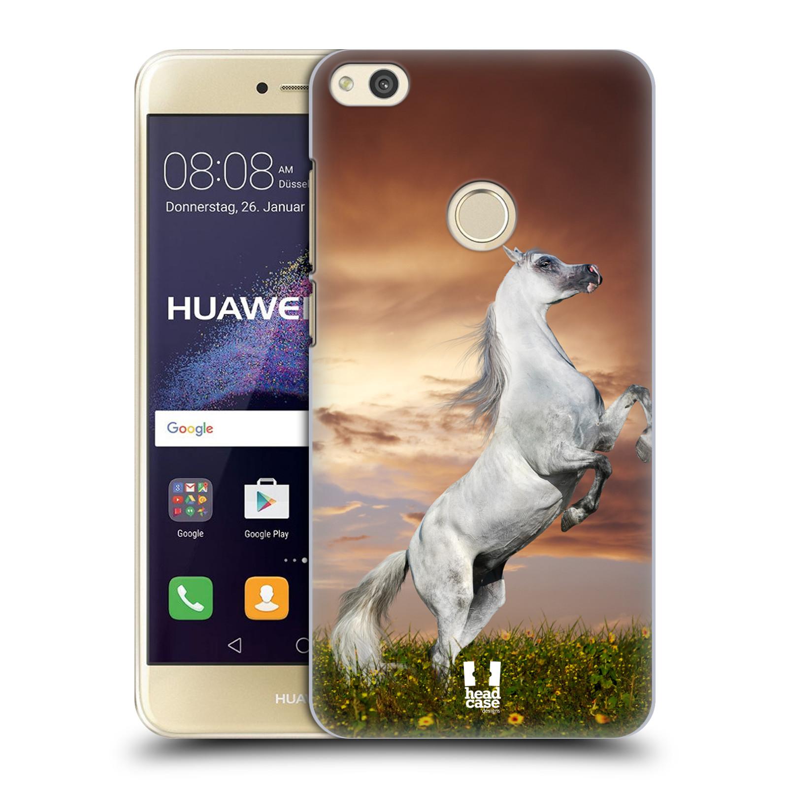 HEAD CASE silikonový obal na mobil Huawei P8 LITE 2017 vzor Divočina, Divoký život a zvířata foto DIVOKÝ KŮŇ MUSTANG BÍLÁ