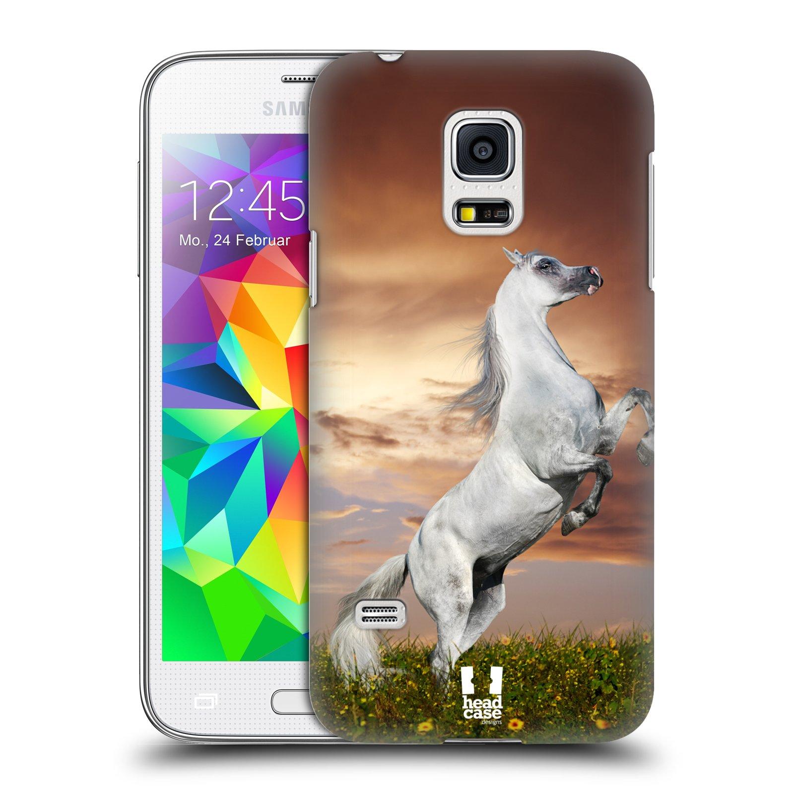 HEAD CASE plastový obal na mobil SAMSUNG Galaxy S5 MINI / S5 MINI DUOS vzor Divočina, Divoký život a zvířata foto DIVOKÝ KŮŇ MUSTANG BÍLÁ