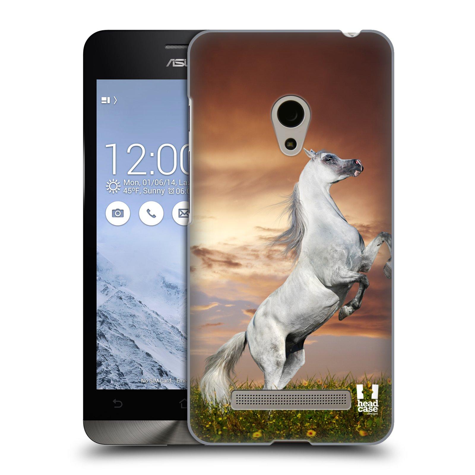 HEAD CASE plastový obal na mobil Asus Zenfone 5 vzor Divočina, Divoký život a zvířata foto DIVOKÝ KŮŇ MUSTANG BÍLÁ
