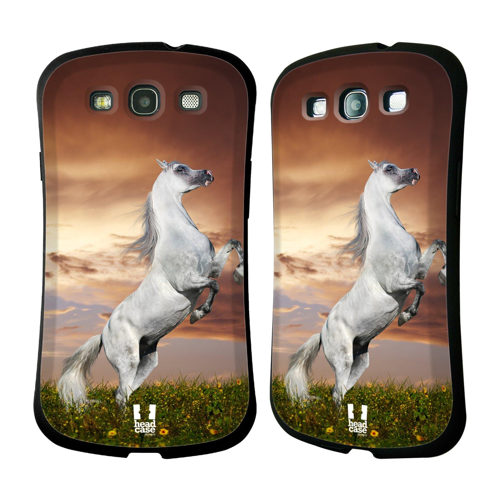 HEAD CASE silikon/plast odolný obal na mobil Samsung Galaxy S3 vzor Divočina, Divoký život a zvířata foto DIVOKÝ KŮŇ MUSTANG BÍLÁ