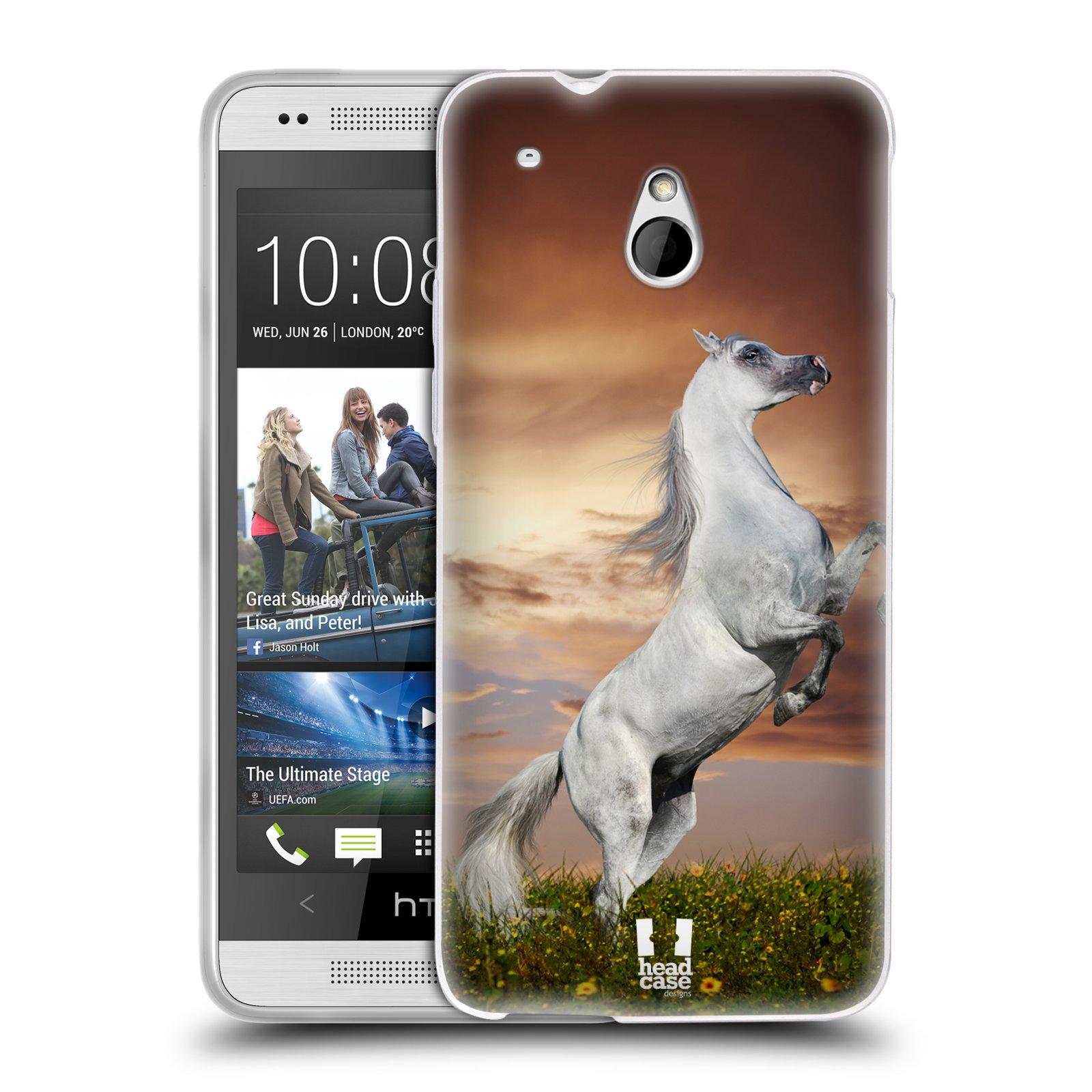 HEAD CASE silikonový obal na mobil HTC ONE MINI (M4) vzor Divočina, Divoký život a zvířata foto DIVOKÝ KŮŇ MUSTANG BÍLÁ