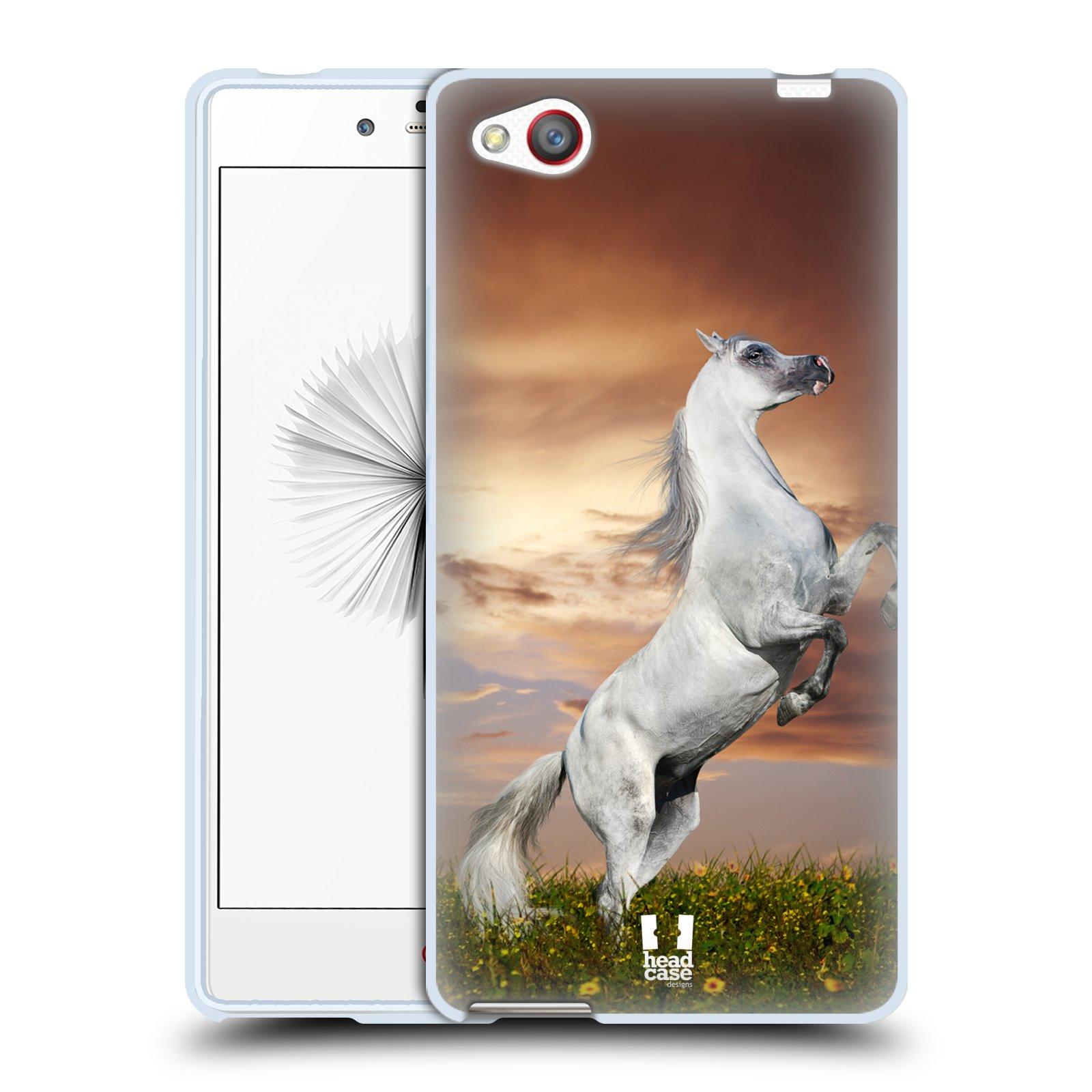 HEAD CASE silikonový obal na mobil ZTE NUBIA Z9 MINI vzor Divočina, Divoký život a zvířata foto DIVOKÝ KŮŇ MUSTANG BÍLÁ