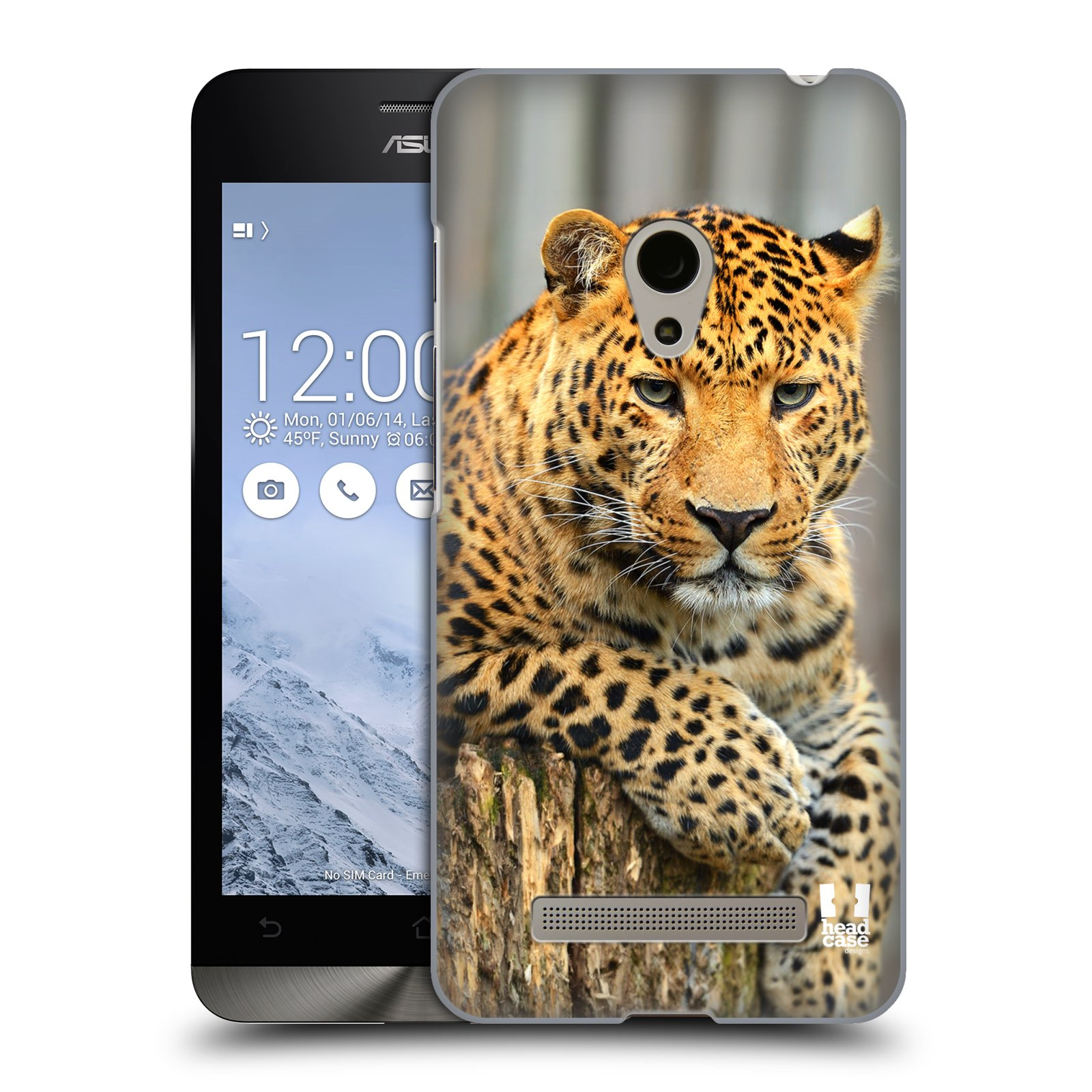 HEAD CASE plastový obal na mobil Asus Zenfone 5 vzor Divočina, Divoký život a zvířata foto LEOPARD PORTRÉT