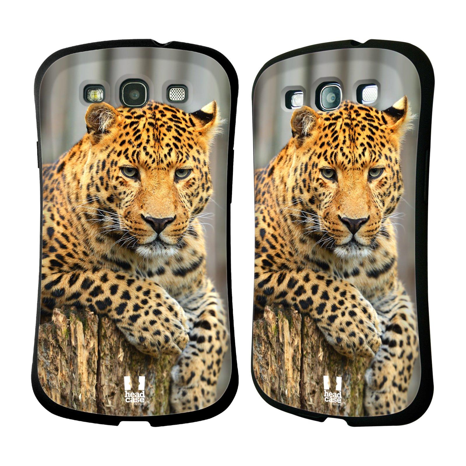 HEAD CASE silikon/plast odolný obal na mobil Samsung Galaxy S3 vzor Divočina, Divoký život a zvířata foto LEOPARD PORTRÉT