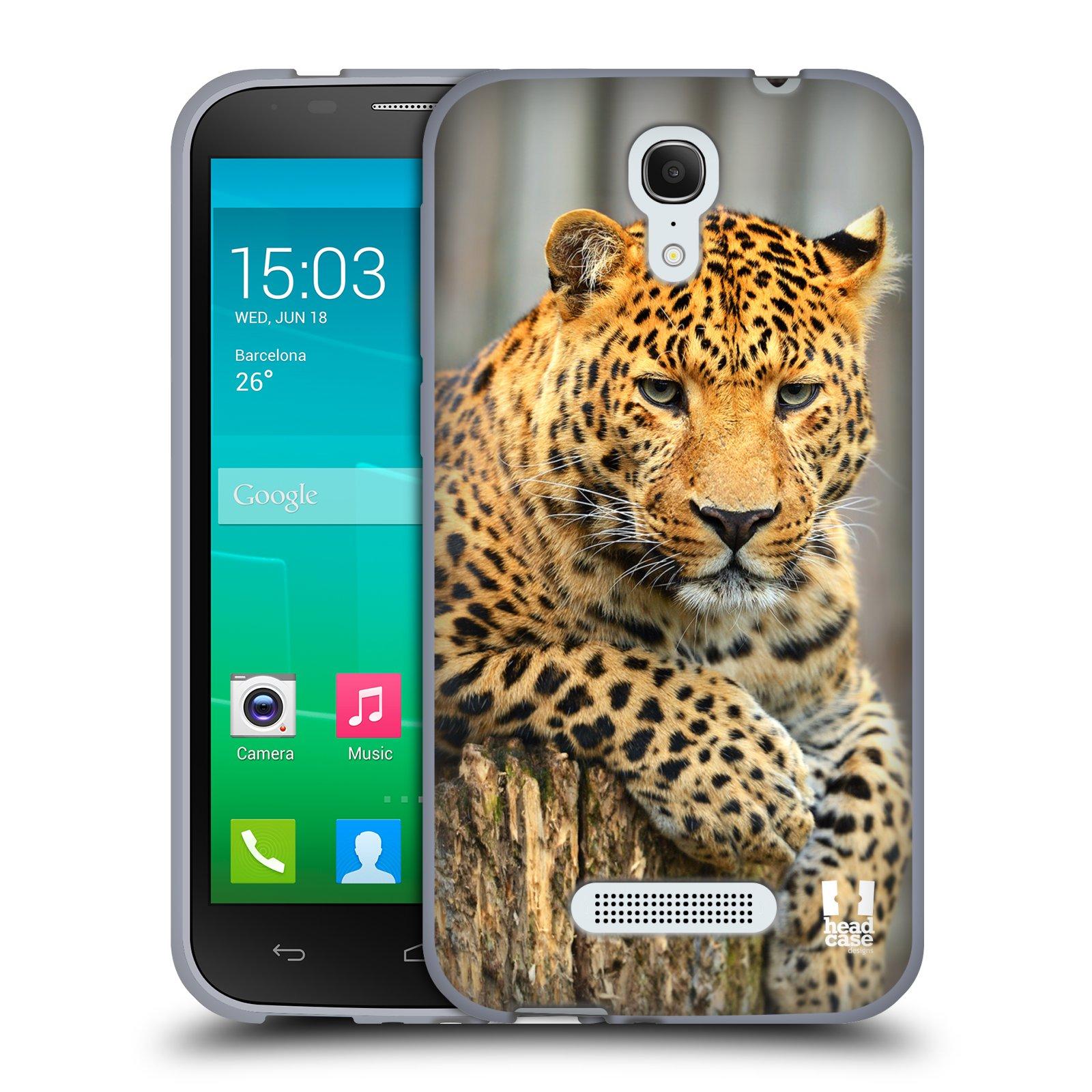 HEAD CASE silikonový obal na mobil Alcatel POP S7 vzor Divočina, Divoký život a zvířata foto LEOPARD PORTRÉT