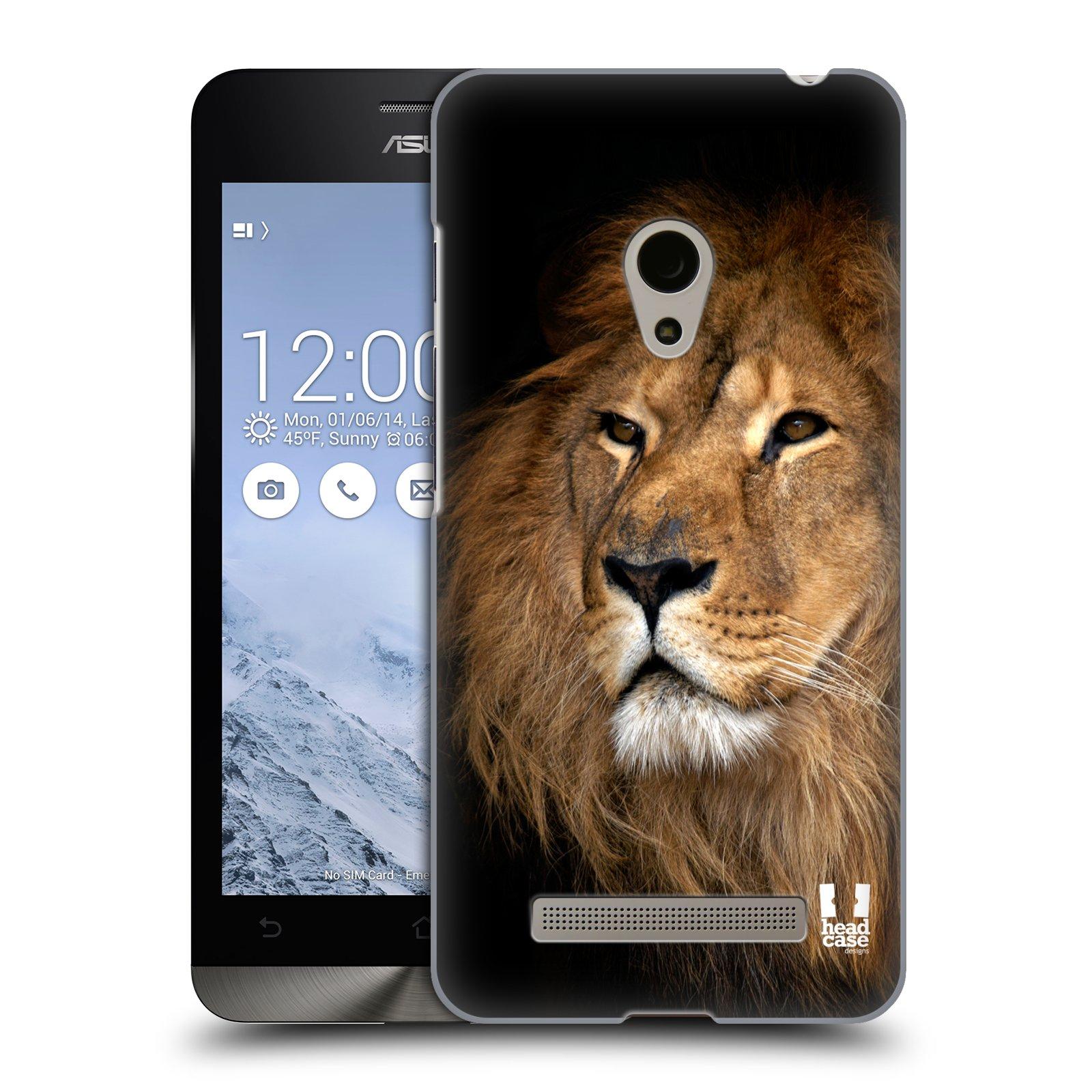 HEAD CASE plastový obal na mobil Asus Zenfone 5 vzor Divočina, Divoký život a zvířata foto LEV KRÁL ZVÍŘAT