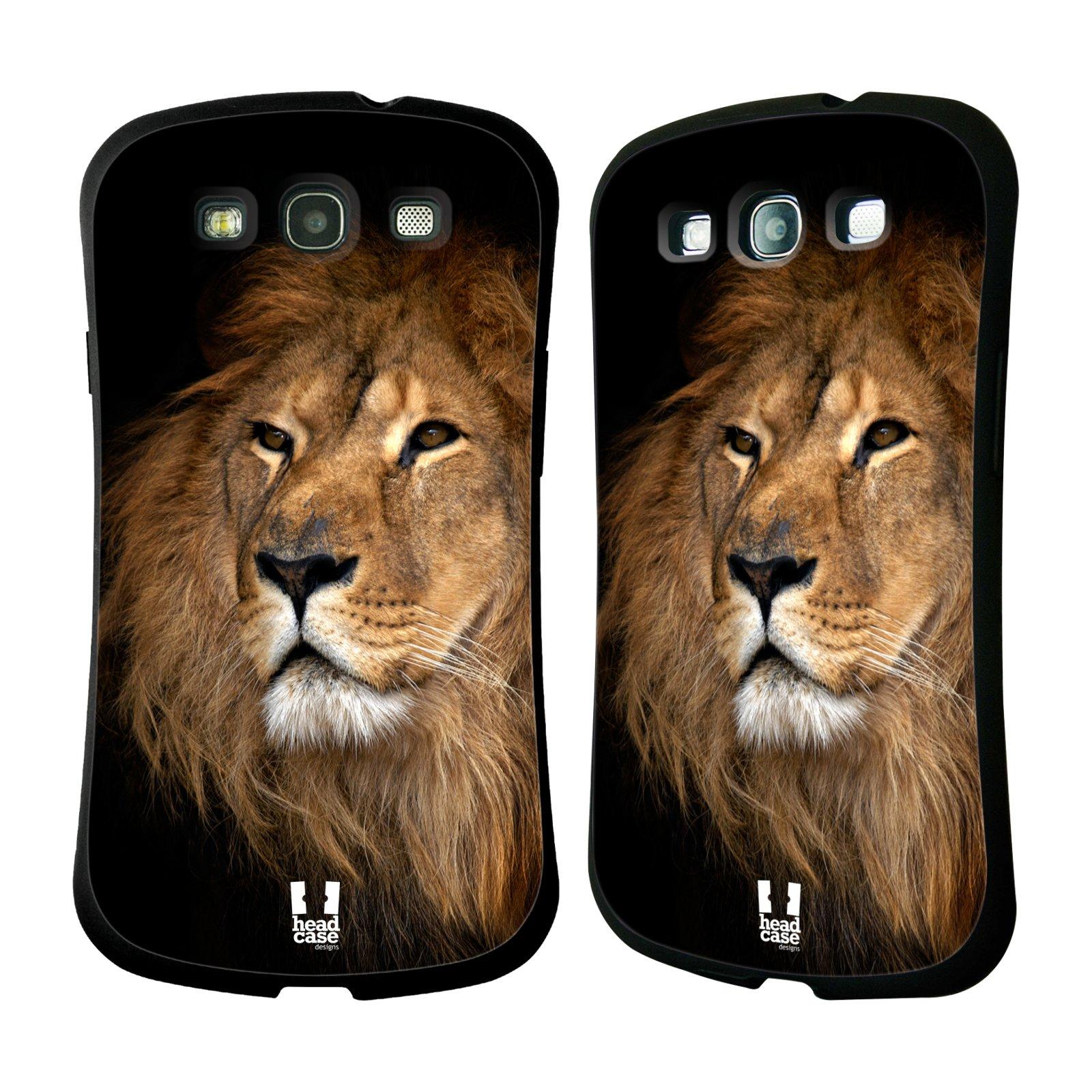 HEAD CASE silikon/plast odolný obal na mobil Samsung Galaxy S3 vzor Divočina, Divoký život a zvířata foto LEV KRÁL ZVÍŘAT