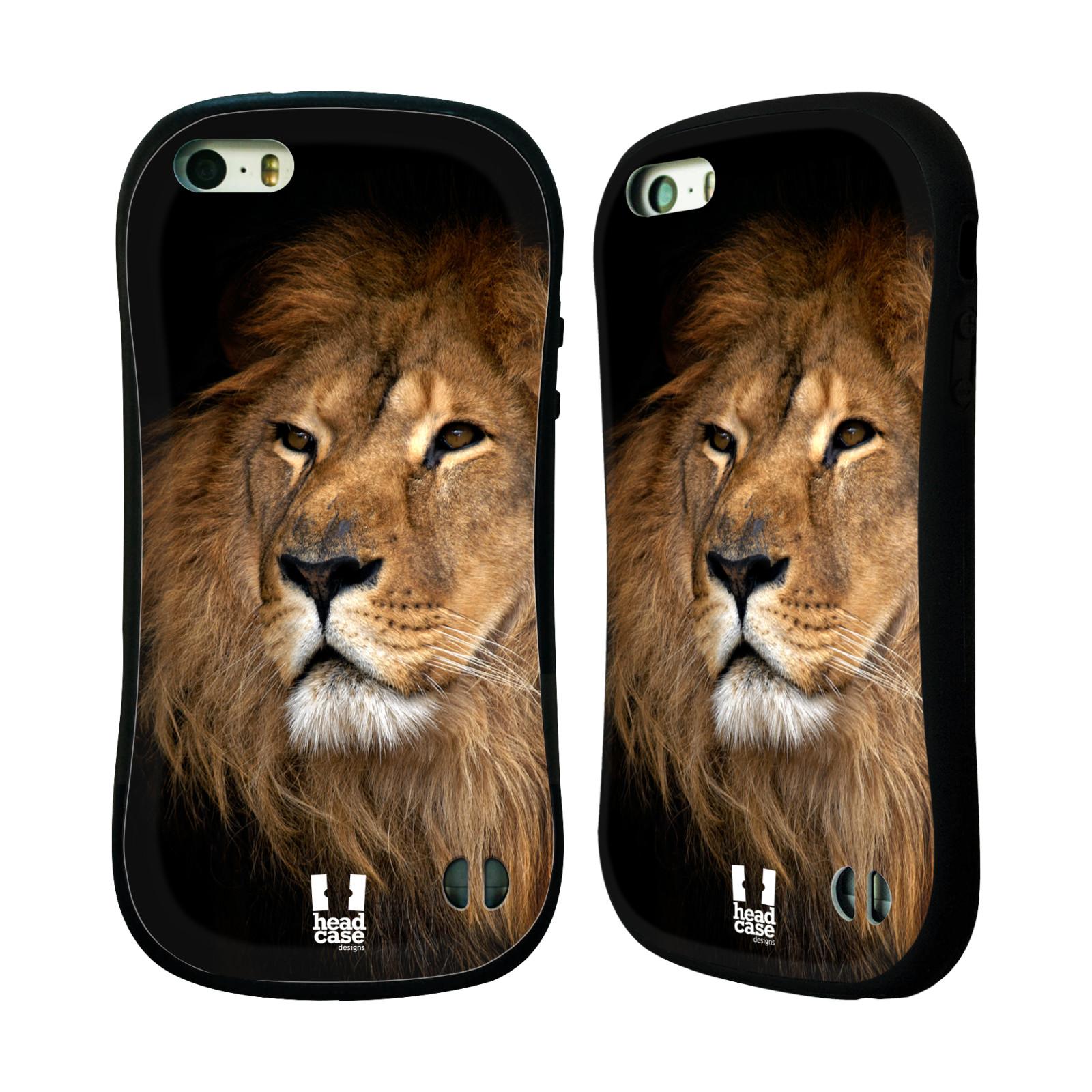 HEAD CASE silikon/plast odolný obal na mobil Apple Iphone 5/5S vzor Divočina, Divoký život a zvířata foto LEV KRÁL ZVÍŘAT