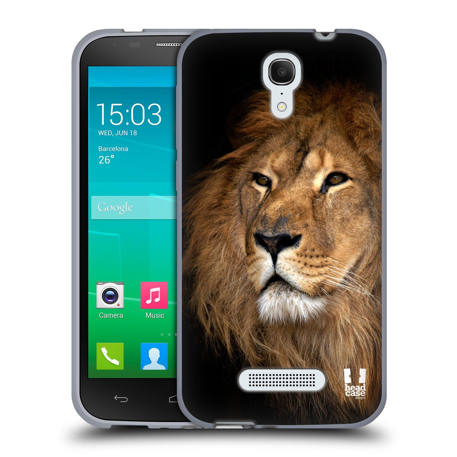 HEAD CASE silikonový obal na mobil Alcatel POP S7 vzor Divočina, Divoký život a zvířata foto LEV KRÁL ZVÍŘAT