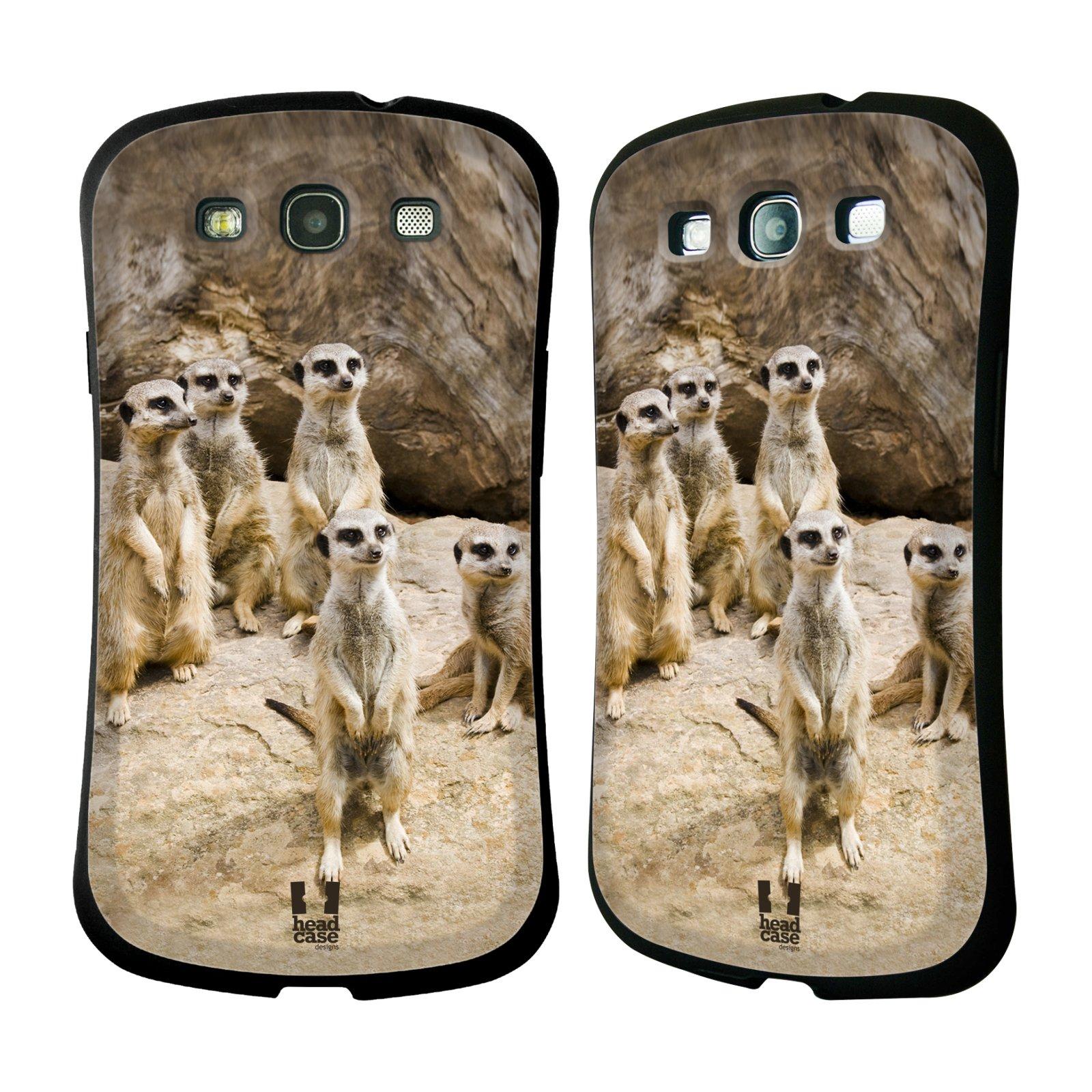 HEAD CASE silikon/plast odolný obal na mobil Samsung Galaxy S3 vzor Divočina, Divoký život a zvířata foto SURIKATA
