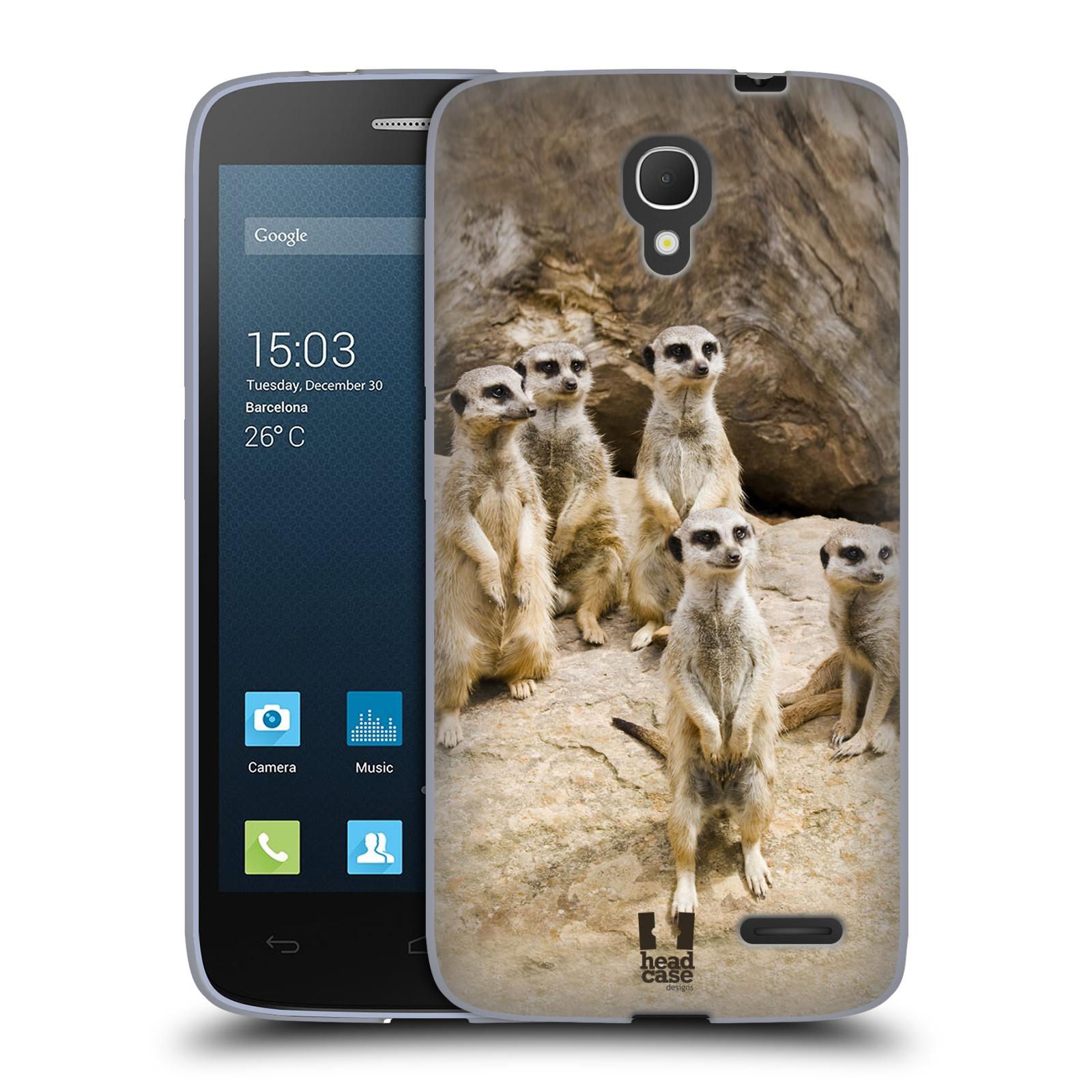 HEAD CASE silikonový obal na mobil Alcatel POP 2 (5042) (Displej 4,5) vzor Divočina, Divoký život a zvířata foto SURIKATA
