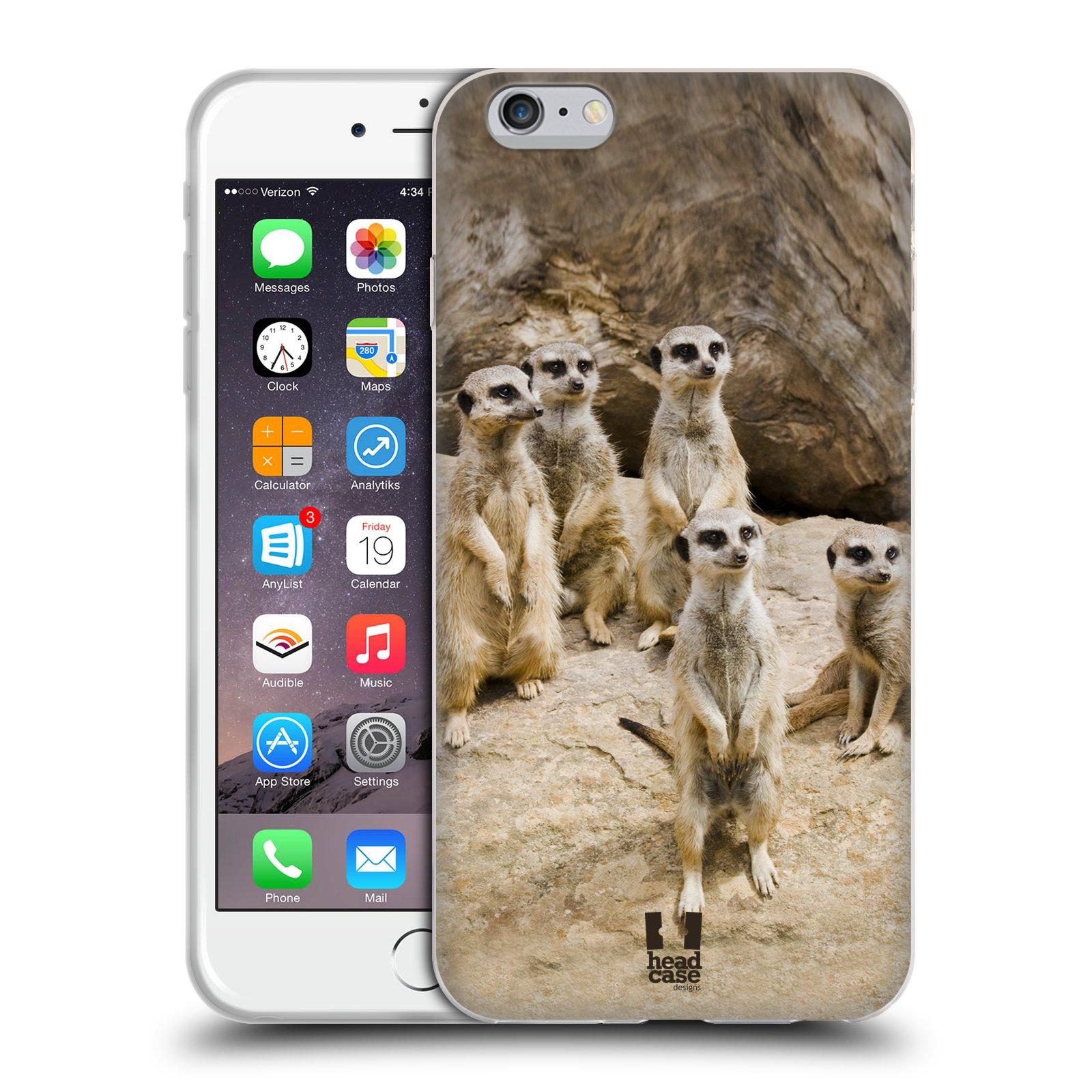 HEAD CASE silikonový obal na mobil Apple Iphone 6 PLUS/ 6S PLUS vzor Divočina, Divoký život a zvířata foto SURIKATA