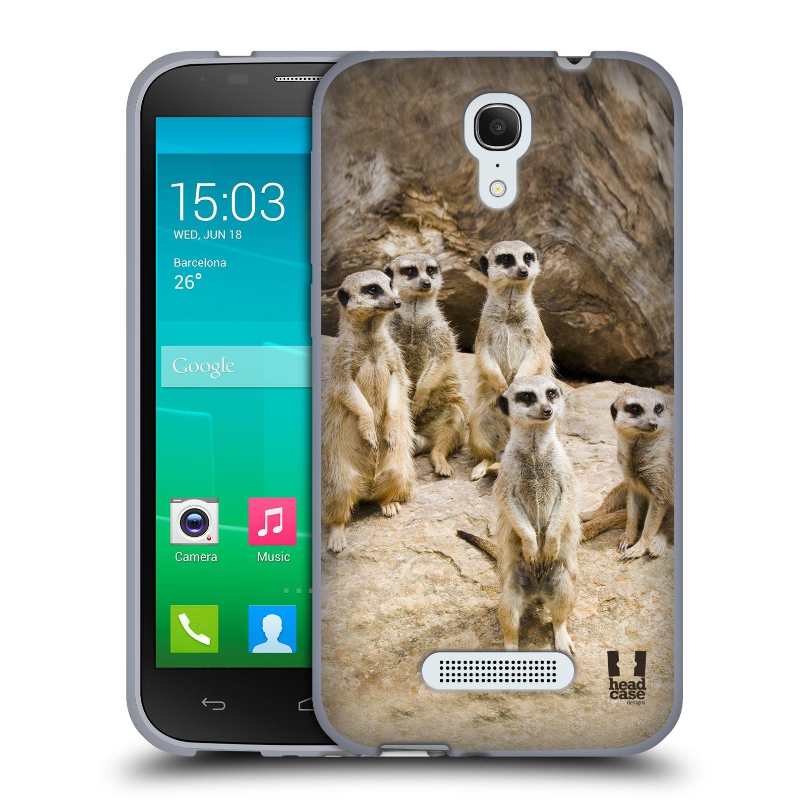 HEAD CASE silikonový obal na mobil Alcatel POP S7 vzor Divočina, Divoký život a zvířata foto SURIKATA