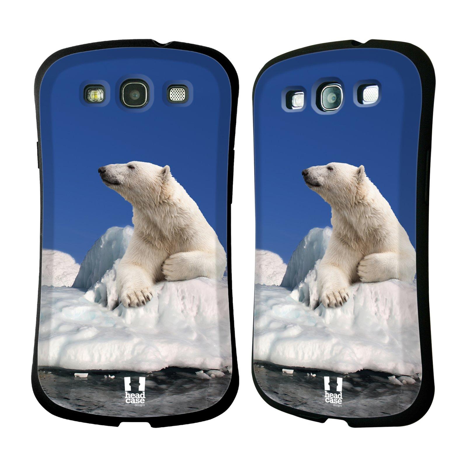 HEAD CASE silikon/plast odolný obal na mobil Samsung Galaxy S3 vzor Divočina, Divoký život a zvířata foto LEDNÍ MEDVĚD NA LEDOVCI A NEBE MODRÁ