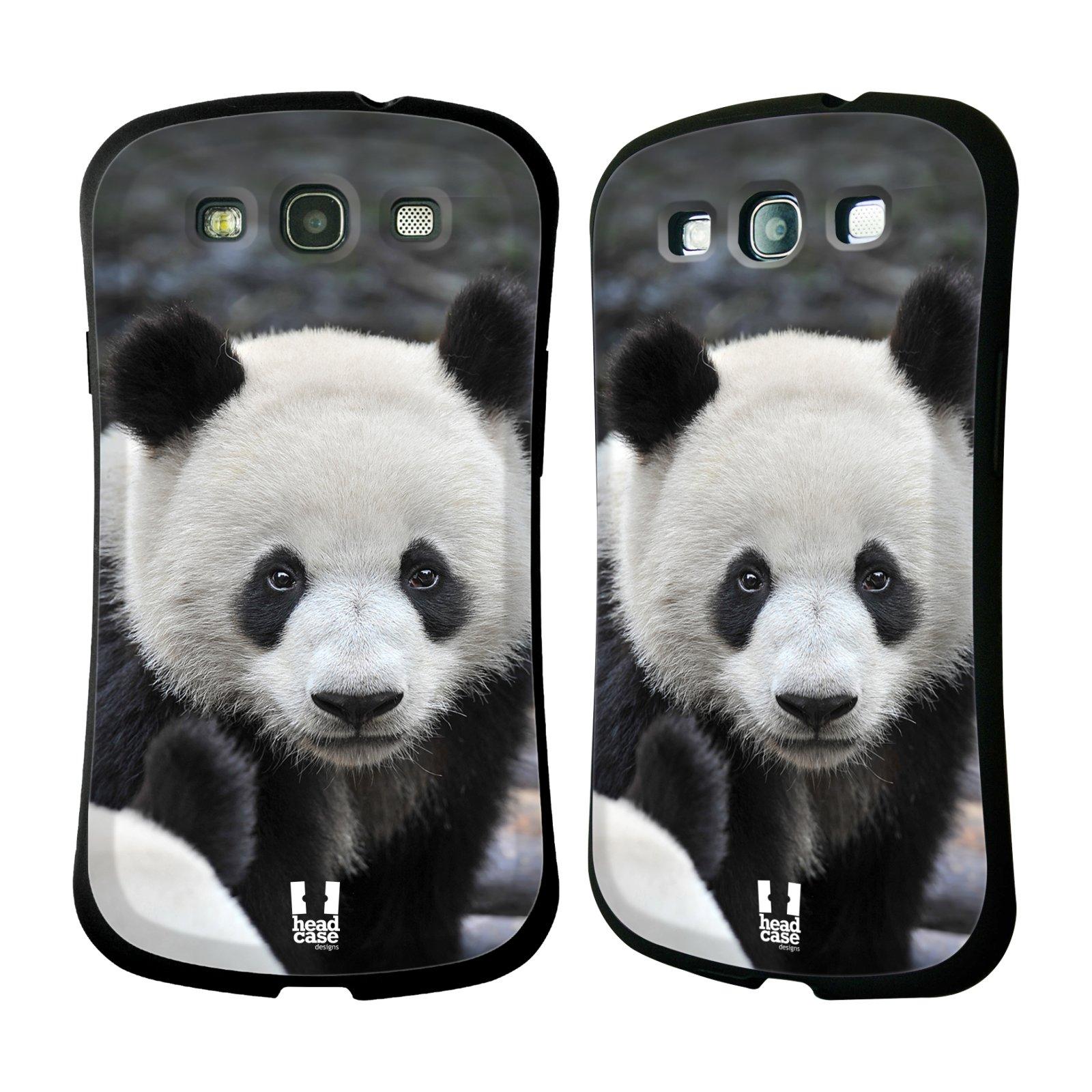HEAD CASE silikon/plast odolný obal na mobil Samsung Galaxy S3 vzor Divočina, Divoký život a zvířata foto MEDVĚD PANDA