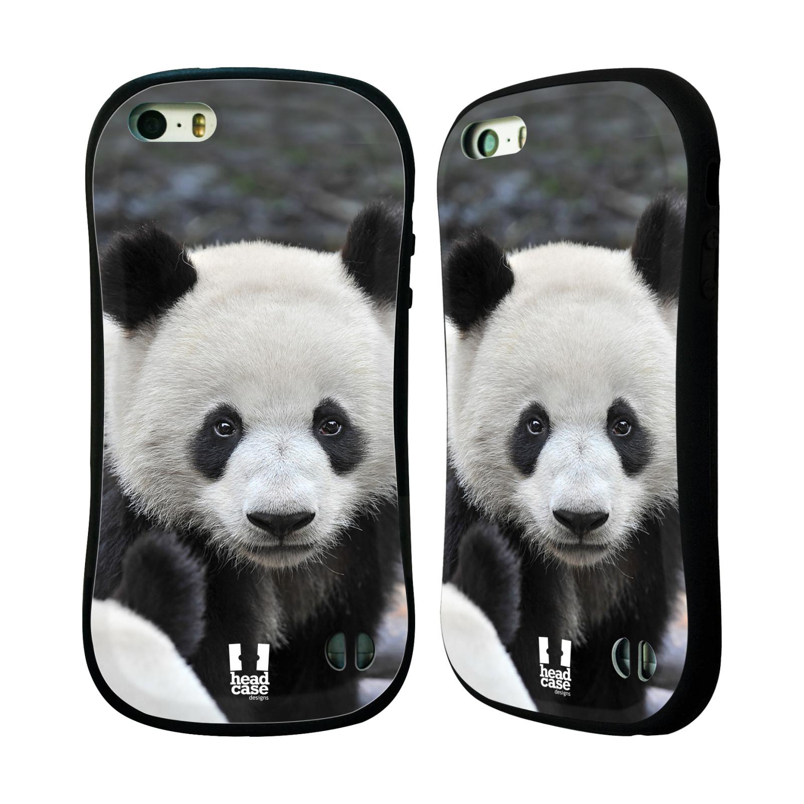 HEAD CASE silikon/plast odolný obal na mobil Apple Iphone 5/5S vzor Divočina, Divoký život a zvířata foto MEDVĚD PANDA