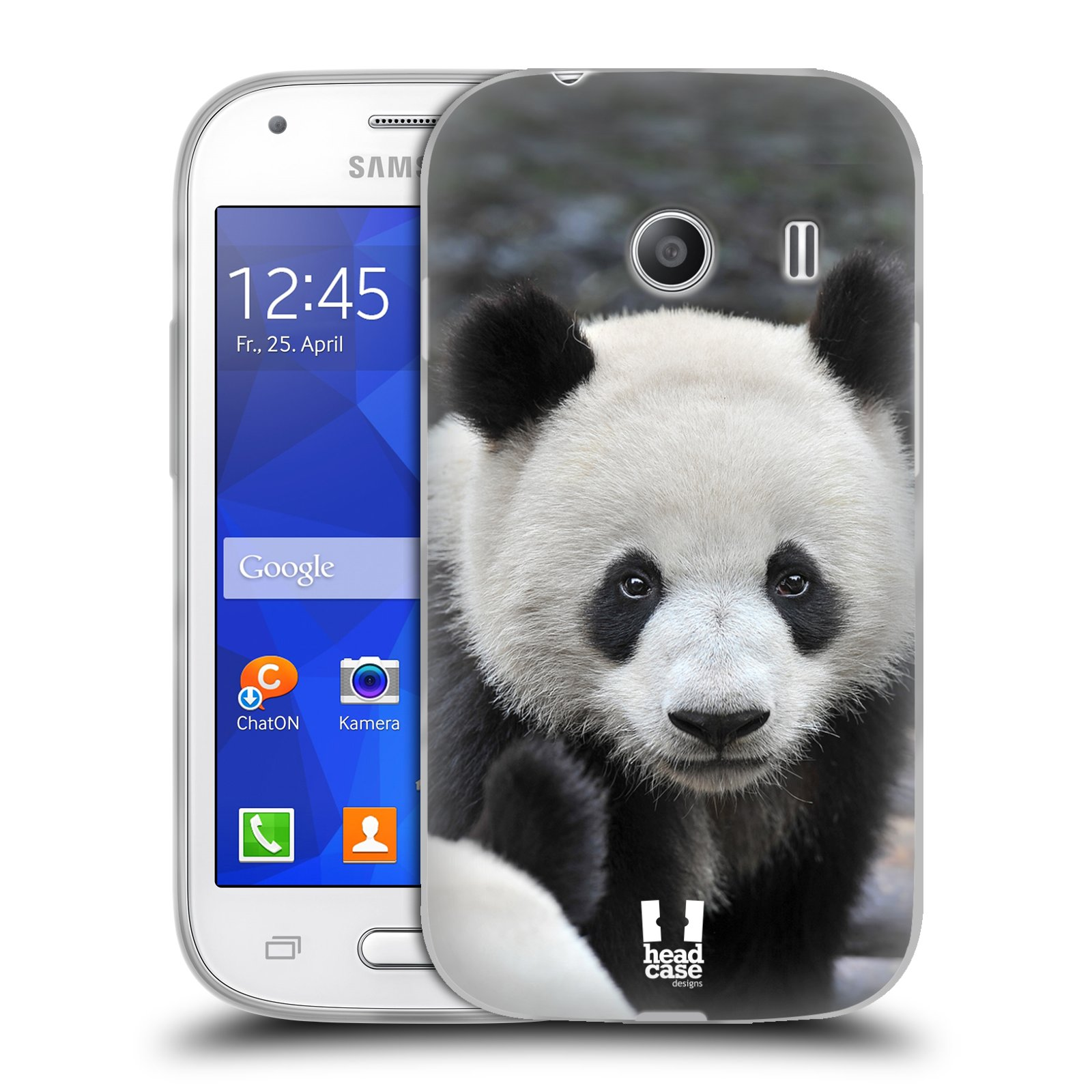 HEAD CASE silikonový obal na mobil Samsung Galaxy Ace Style (G310) vzor Divočina, Divoký život a zvířata foto MEDVĚD PANDA