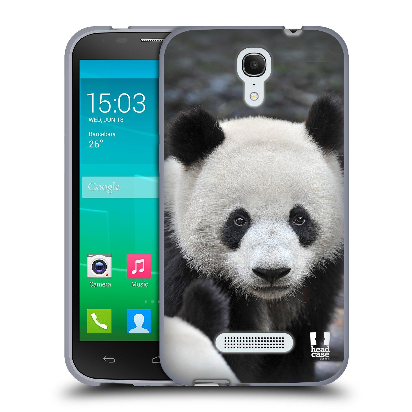 HEAD CASE silikonový obal na mobil Alcatel POP S7 vzor Divočina, Divoký život a zvířata foto MEDVĚD PANDA