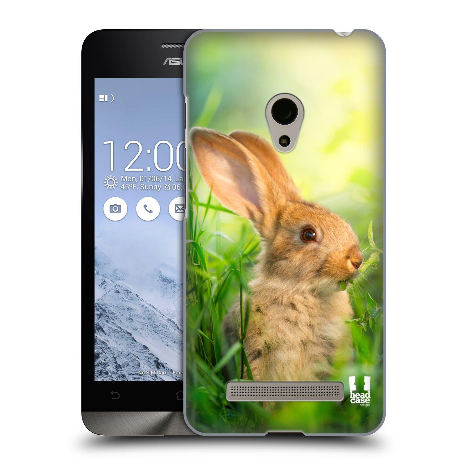 HEAD CASE plastový obal na mobil Asus Zenfone 5 vzor Divočina, Divoký život a zvířata foto ZAJÍČEK V TRÁVĚ ZELENÁ