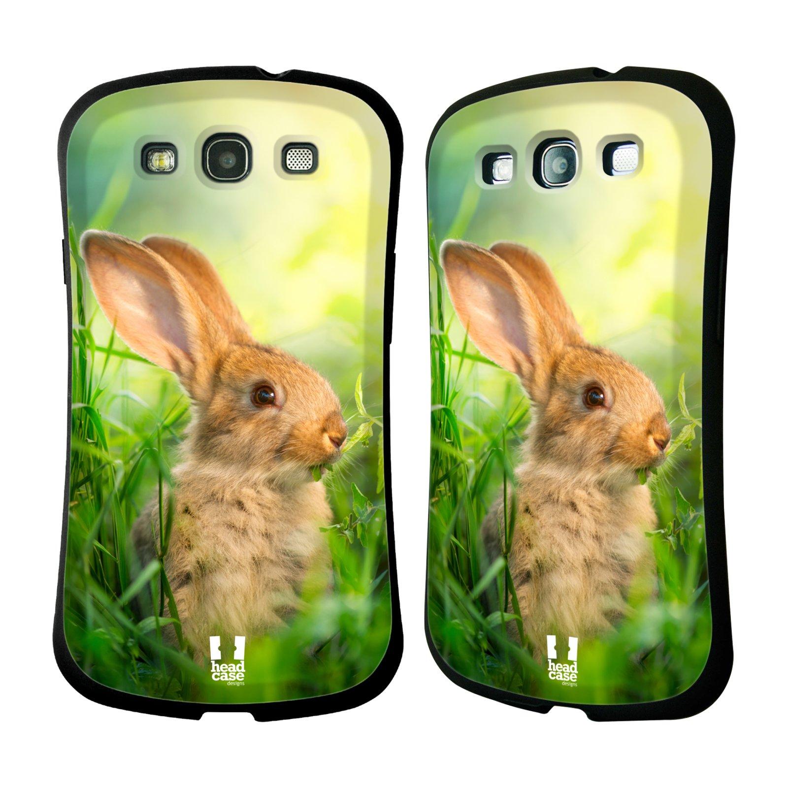 HEAD CASE silikon/plast odolný obal na mobil Samsung Galaxy S3 vzor Divočina, Divoký život a zvířata foto ZAJÍČEK V TRÁVĚ ZELENÁ