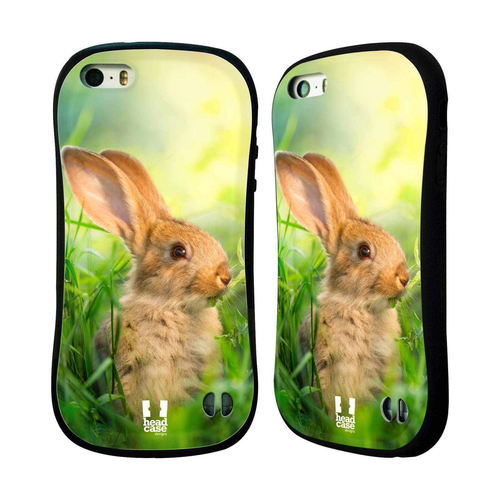 HEAD CASE silikon/plast odolný obal na mobil Apple Iphone 5/5S vzor Divočina, Divoký život a zvířata foto ZAJÍČEK V TRÁVĚ ZELENÁ