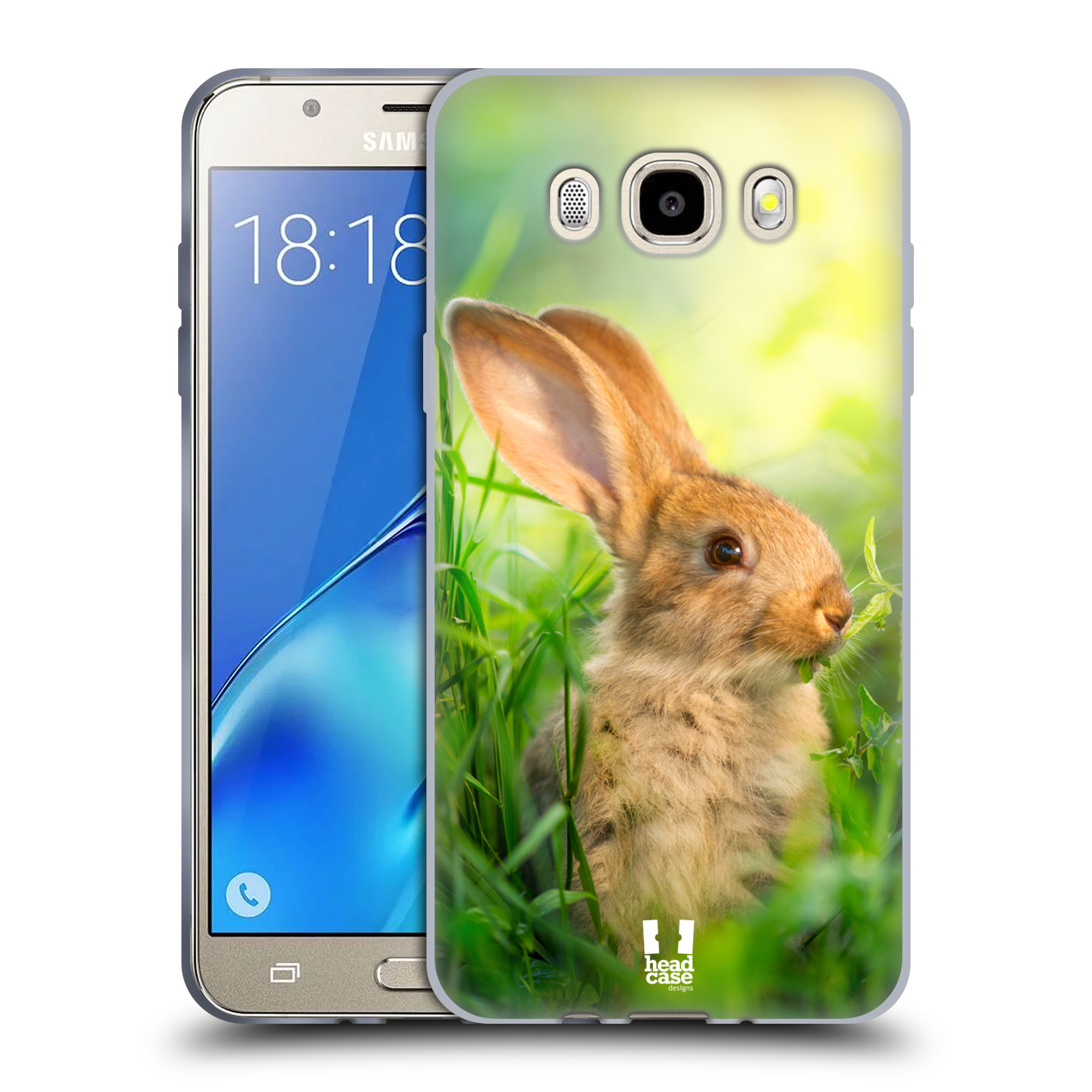 HEAD CASE silikonový obal, kryt na mobil Samsung Galaxy J5 2016, J510, J510F, (J510F DUAL SIM) vzor Divočina, Divoký život a zvířata foto ZAJÍČEK V TRÁVĚ ZELENÁ