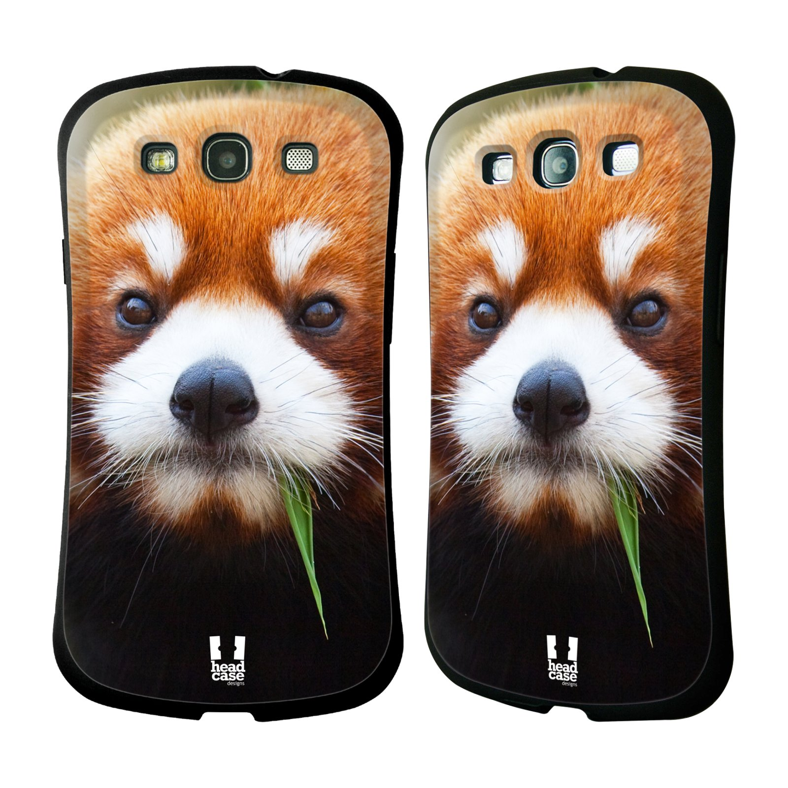 HEAD CASE silikon/plast odolný obal na mobil Samsung Galaxy S3 vzor Divočina, Divoký život a zvířata foto PANDA HNĚDÁ