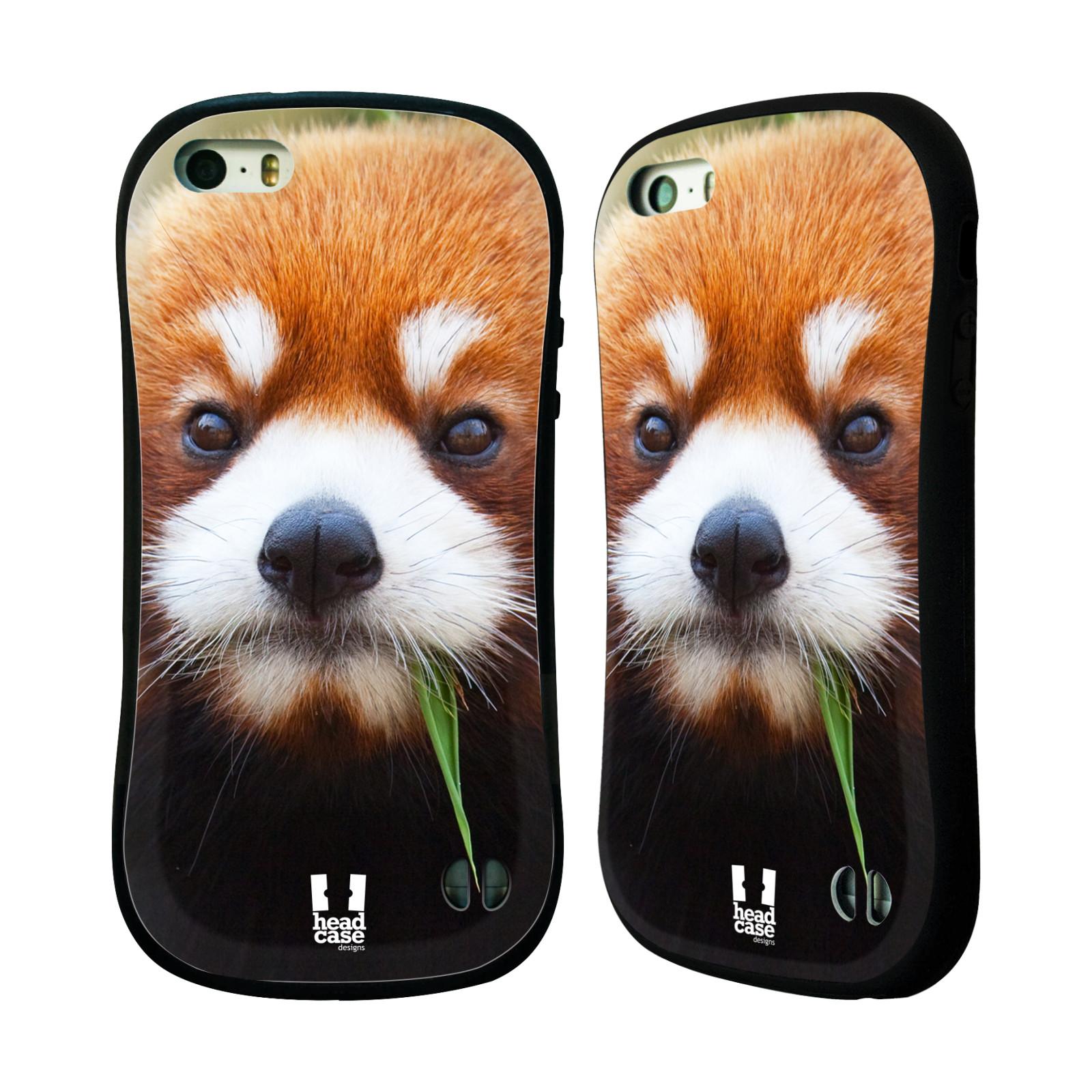 HEAD CASE silikon/plast odolný obal na mobil Apple Iphone 5/5S vzor Divočina, Divoký život a zvířata foto PANDA HNĚDÁ