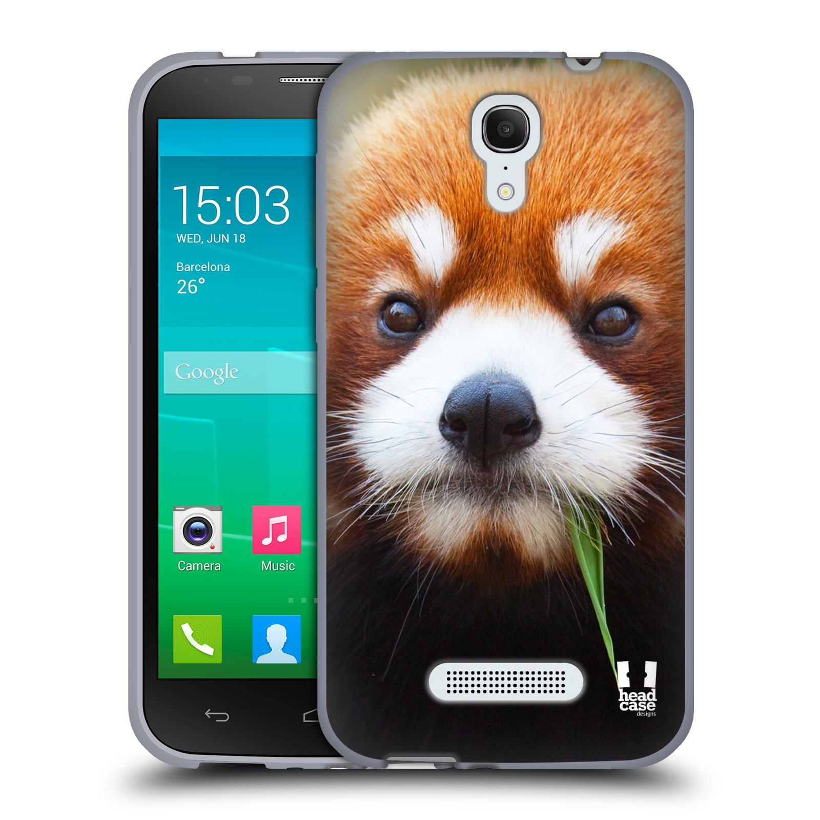 HEAD CASE silikonový obal na mobil Alcatel POP S7 vzor Divočina, Divoký život a zvířata foto PANDA HNĚDÁ