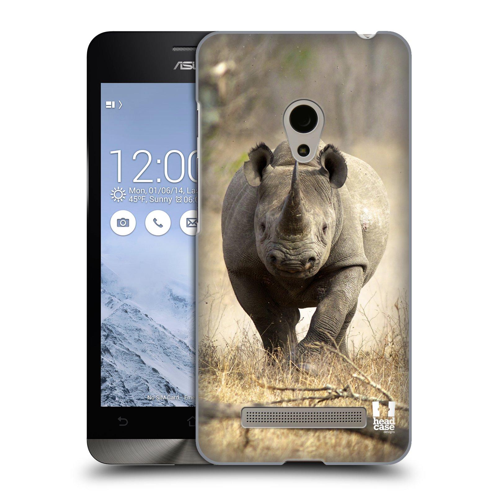 HEAD CASE plastový obal na mobil Asus Zenfone 5 vzor Divočina, Divoký život a zvířata foto AFRIKA BĚŽÍCÍ NOSOROŽEC