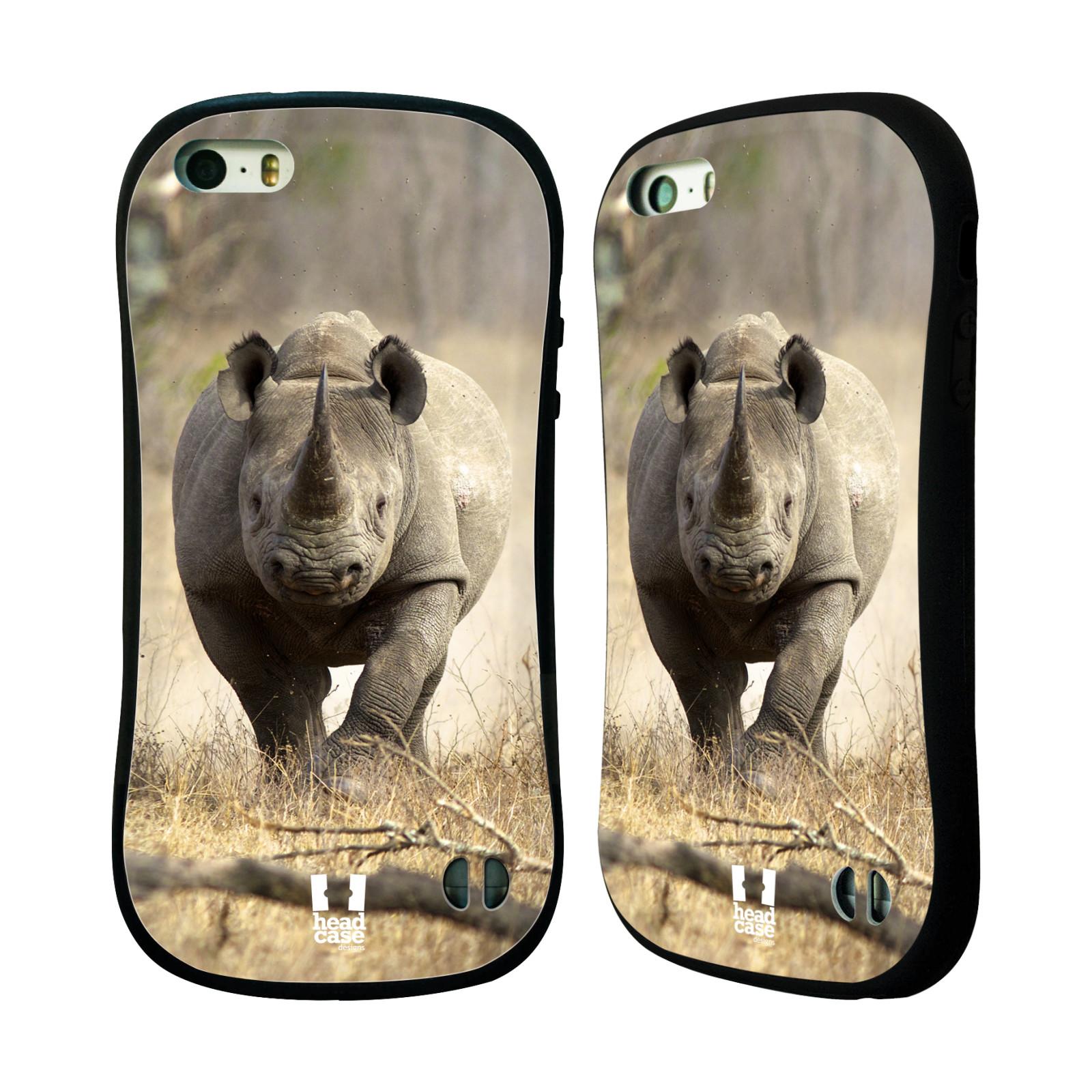 HEAD CASE silikon/plast odolný obal na mobil Apple Iphone 5/5S vzor Divočina, Divoký život a zvířata foto AFRIKA BĚŽÍCÍ NOSOROŽEC