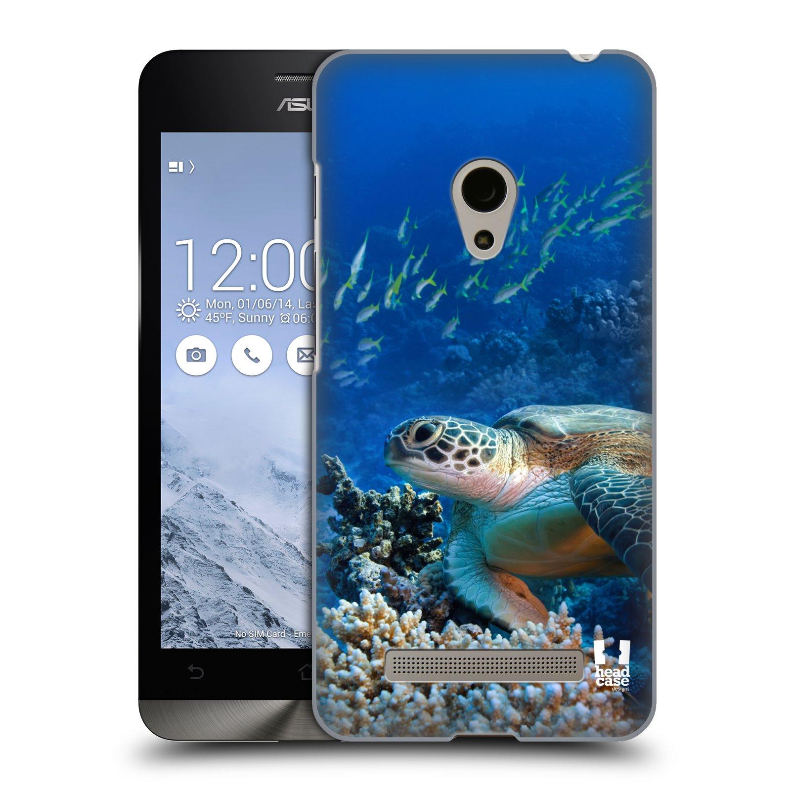 HEAD CASE plastový obal na mobil Asus Zenfone 5 vzor Divočina, Divoký život a zvířata foto MOŘSKÁ ŽELVA MODRÁ PODMOŘSKÁ HLADINA