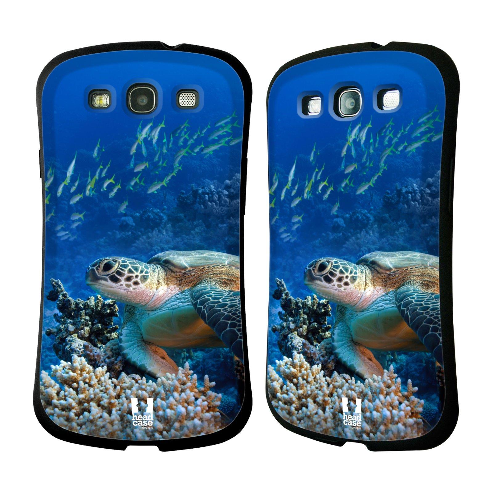 HEAD CASE silikon/plast odolný obal na mobil Samsung Galaxy S3 vzor Divočina, Divoký život a zvířata foto MOŘSKÁ ŽELVA MODRÁ PODMOŘSKÁ HLADINA