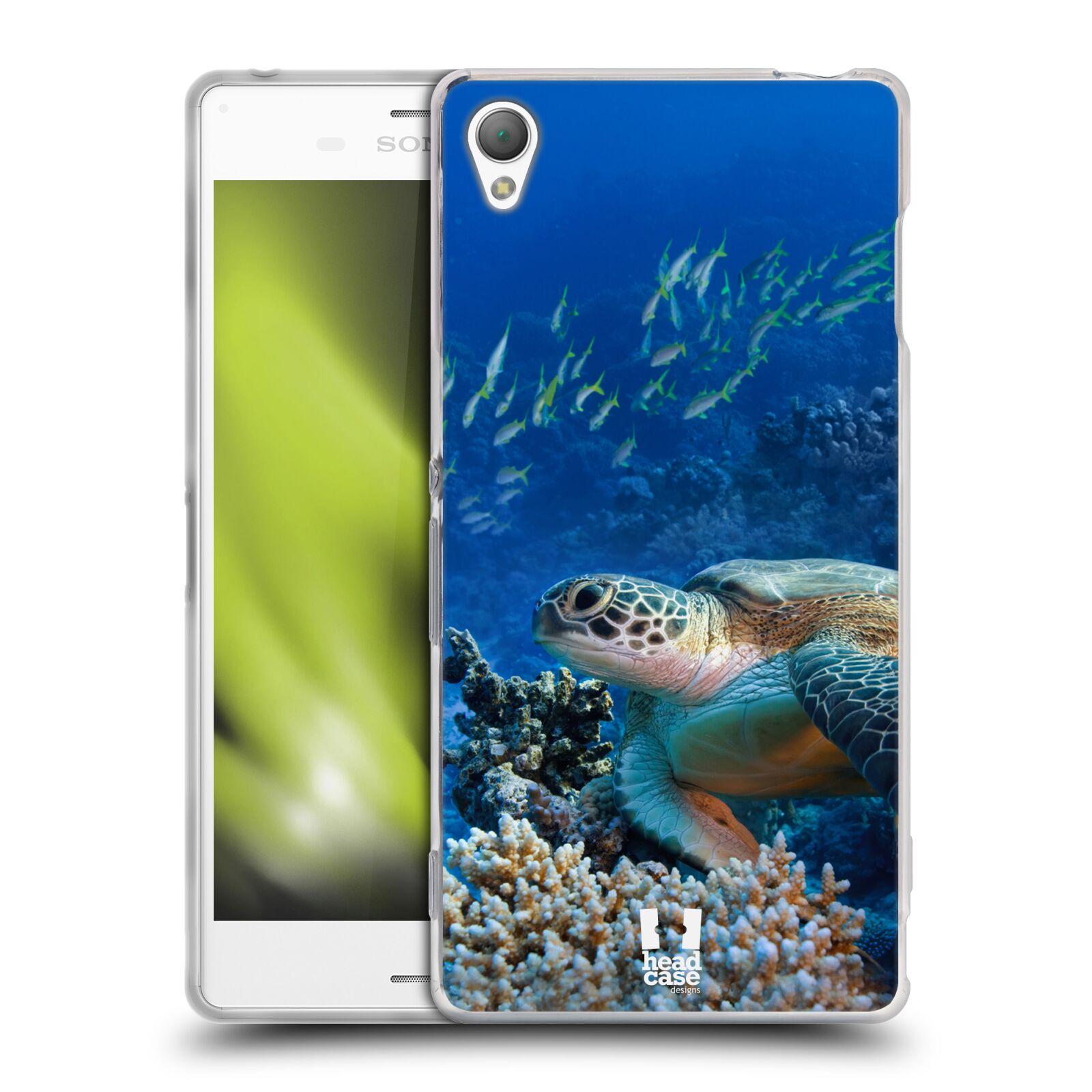HEAD CASE silikonový obal na mobil Sony Xperia Z3 vzor Divočina, Divoký život a zvířata foto MOŘSKÁ ŽELVA MODRÁ PODMOŘSKÁ HLADINA