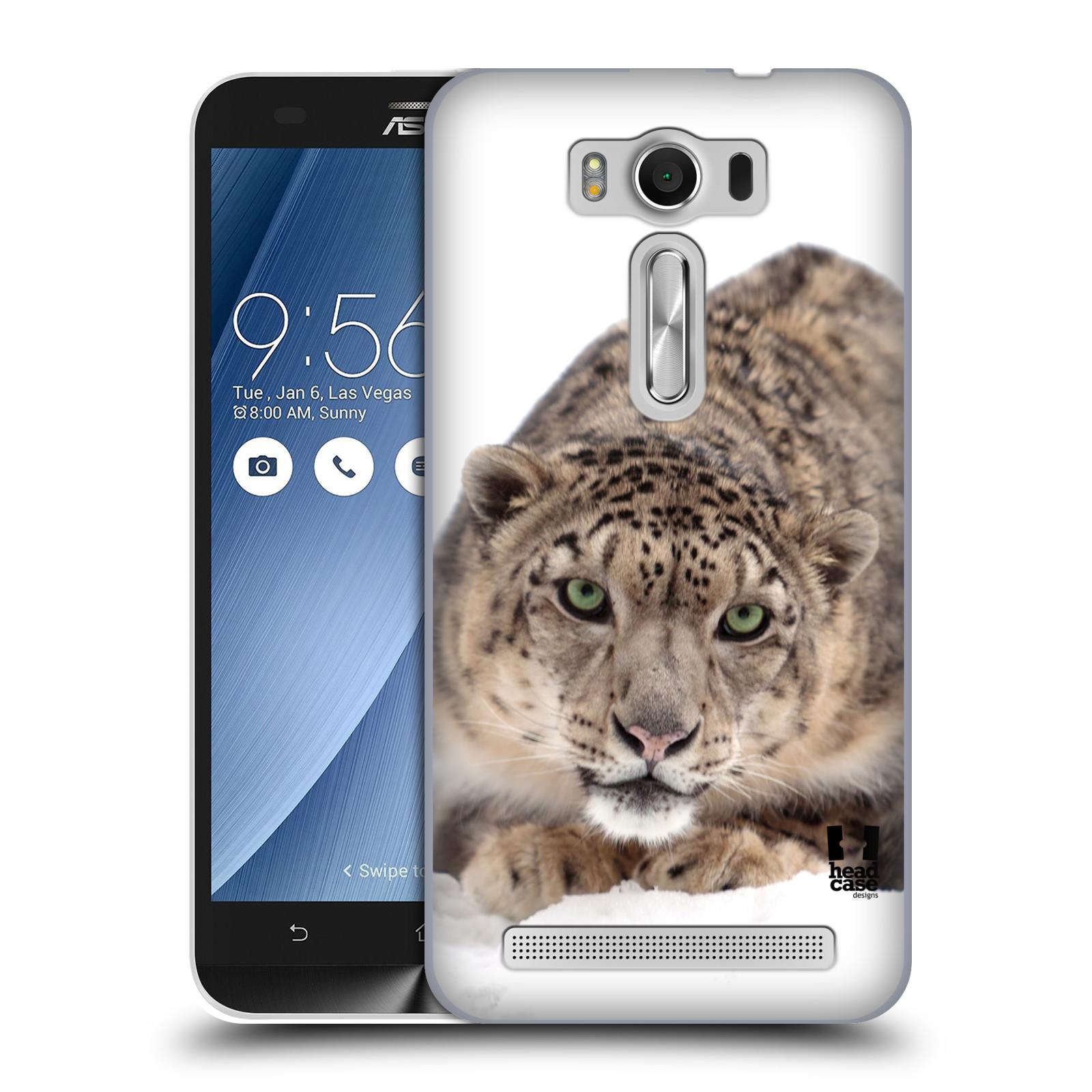 "HEAD CASE plastový obal na mobil Asus Zenfone 2 LASER (5"" displej ZE500KL) vzor Divočina, Divoký život a zvířata foto SNĚŽNÝ LEOPARD"