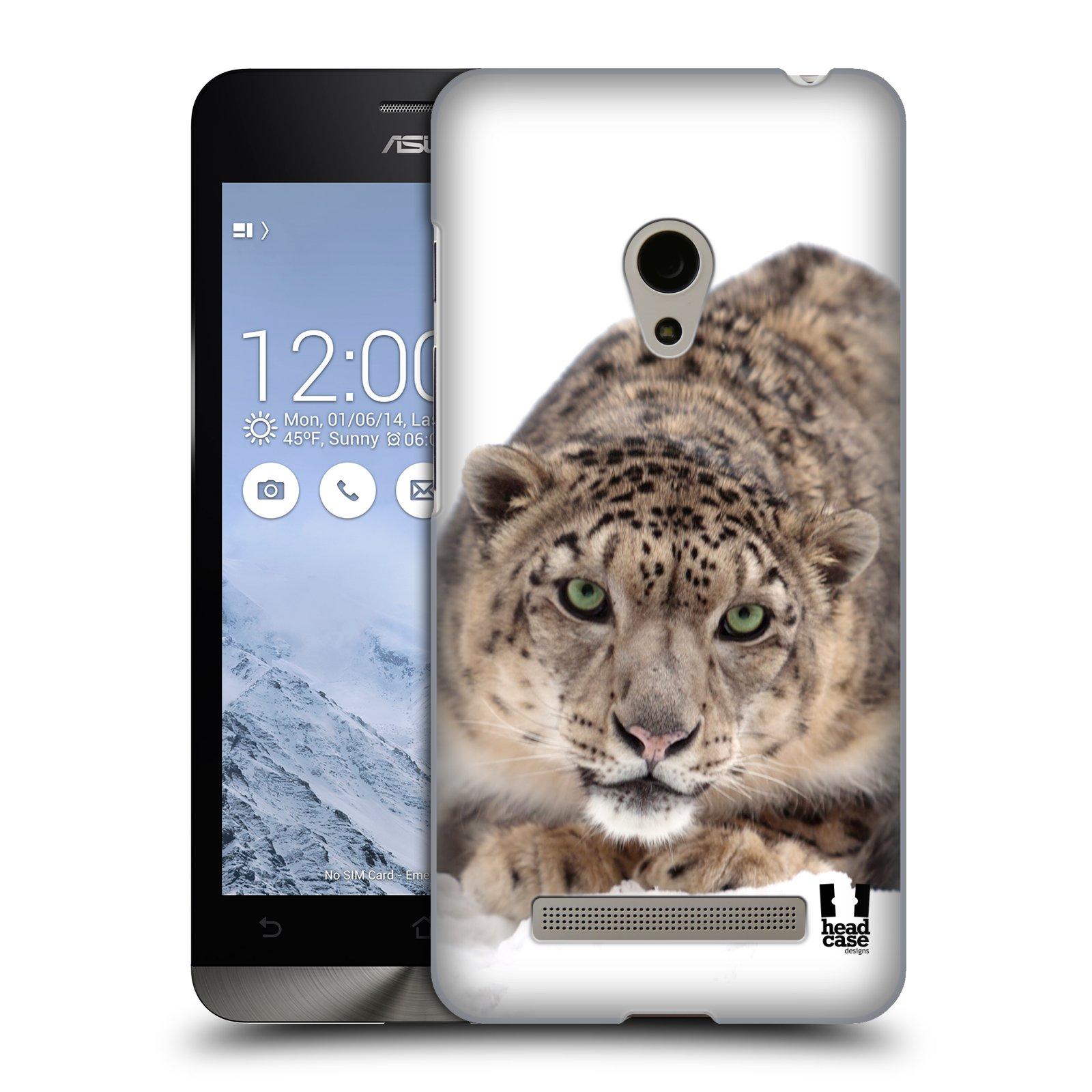 HEAD CASE plastový obal na mobil Asus Zenfone 5 vzor Divočina, Divoký život a zvířata foto SNĚŽNÝ LEOPARD