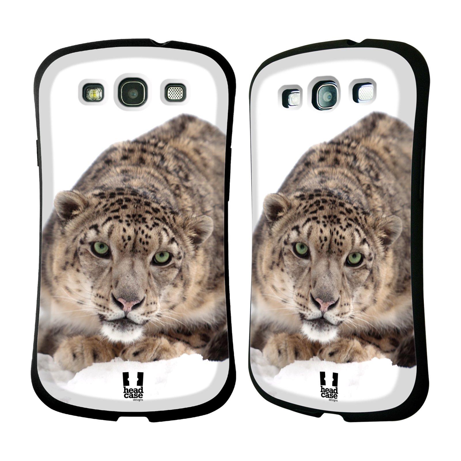 HEAD CASE silikon/plast odolný obal na mobil Samsung Galaxy S3 vzor Divočina, Divoký život a zvířata foto SNĚŽNÝ LEOPARD