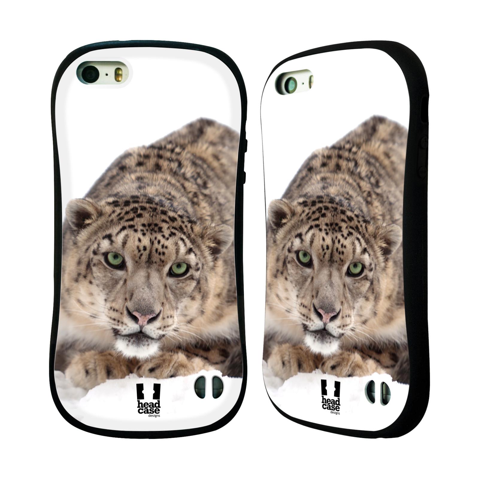 HEAD CASE silikon/plast odolný obal na mobil Apple Iphone 5/5S vzor Divočina, Divoký život a zvířata foto SNĚŽNÝ LEOPARD