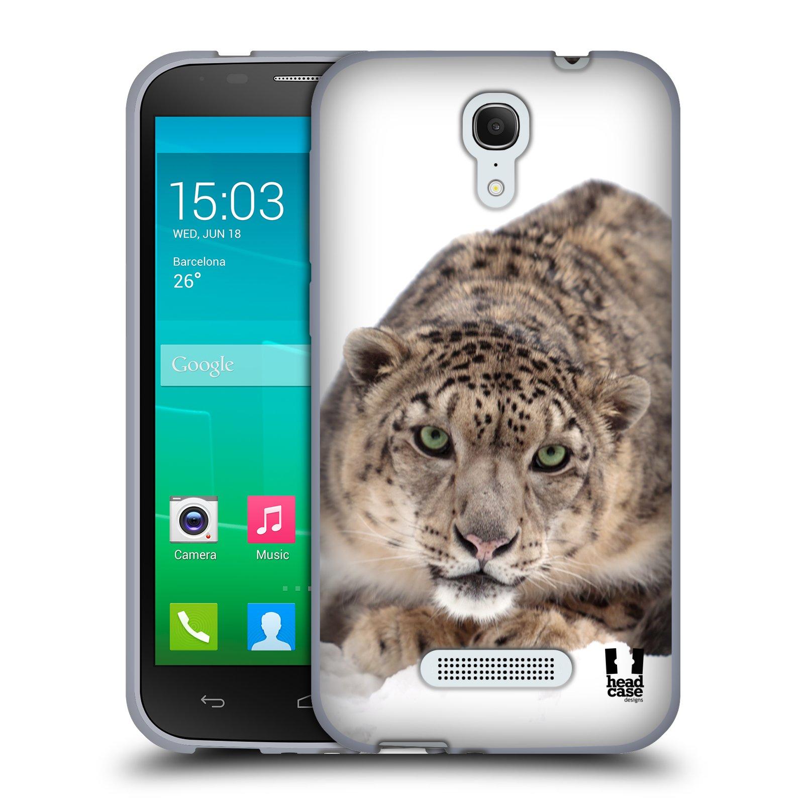 HEAD CASE silikonový obal na mobil Alcatel POP S7 vzor Divočina, Divoký život a zvířata foto SNĚŽNÝ LEOPARD