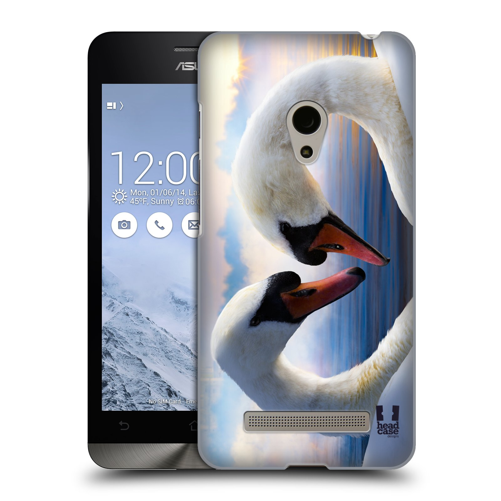 HEAD CASE plastový obal na mobil Asus Zenfone 5 vzor Divočina, Divoký život a zvířata foto ZAMILOVANÉ LABUTĚ, LÁSKA