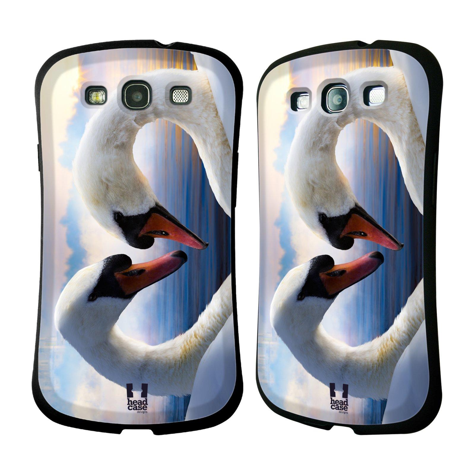 HEAD CASE silikon/plast odolný obal na mobil Samsung Galaxy S3 vzor Divočina, Divoký život a zvířata foto ZAMILOVANÉ LABUTĚ, LÁSKA