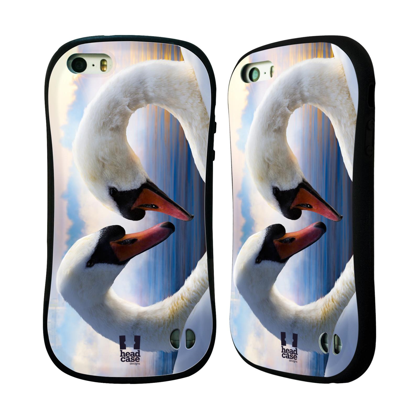 HEAD CASE silikon/plast odolný obal na mobil Apple Iphone 5/5S vzor Divočina, Divoký život a zvířata foto ZAMILOVANÉ LABUTĚ, LÁSKA