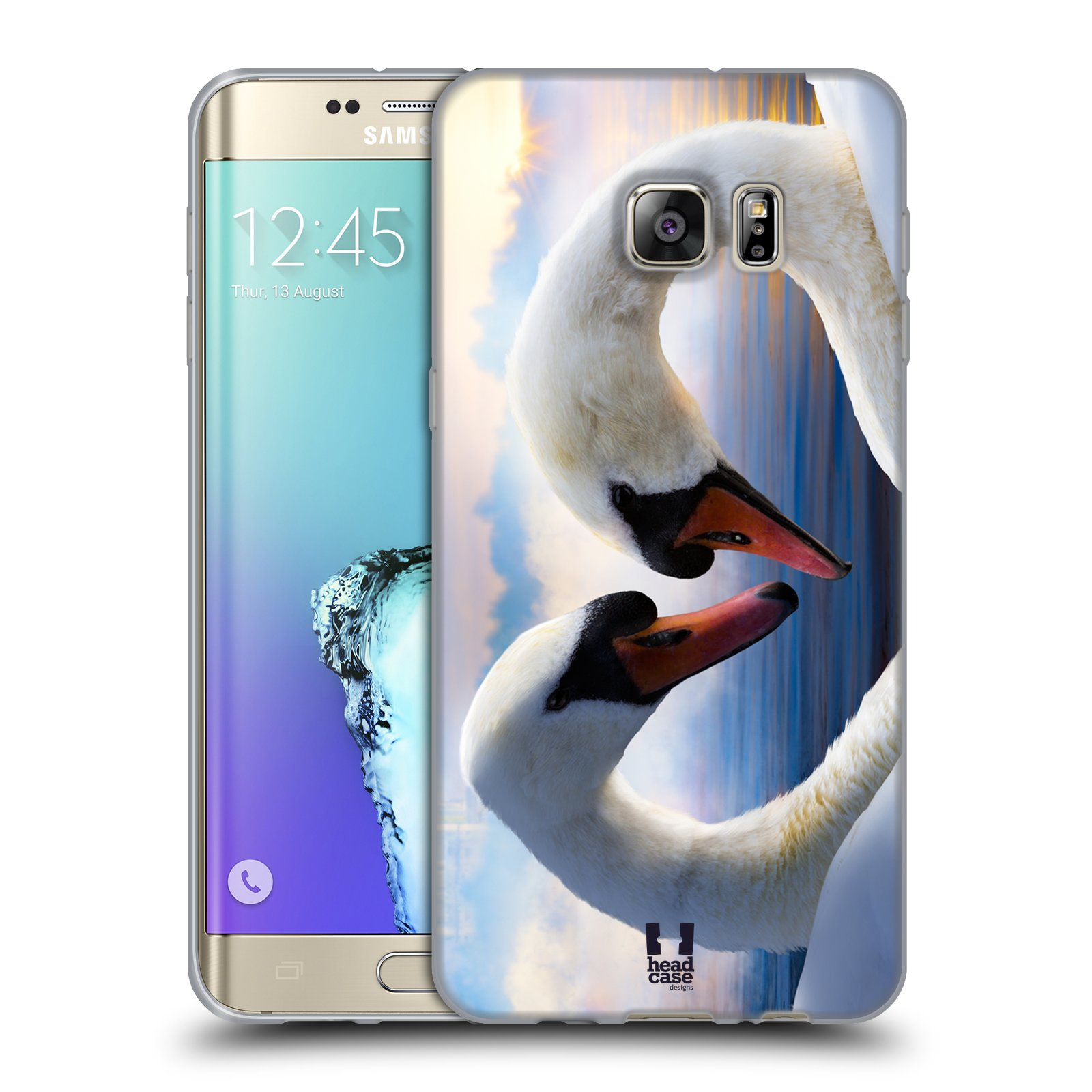 HEAD CASE silikonový obal na mobil Samsung Galaxy S6 EDGE PLUS vzor Divočina, Divoký život a zvířata foto ZAMILOVANÉ LABUTĚ, LÁSKA