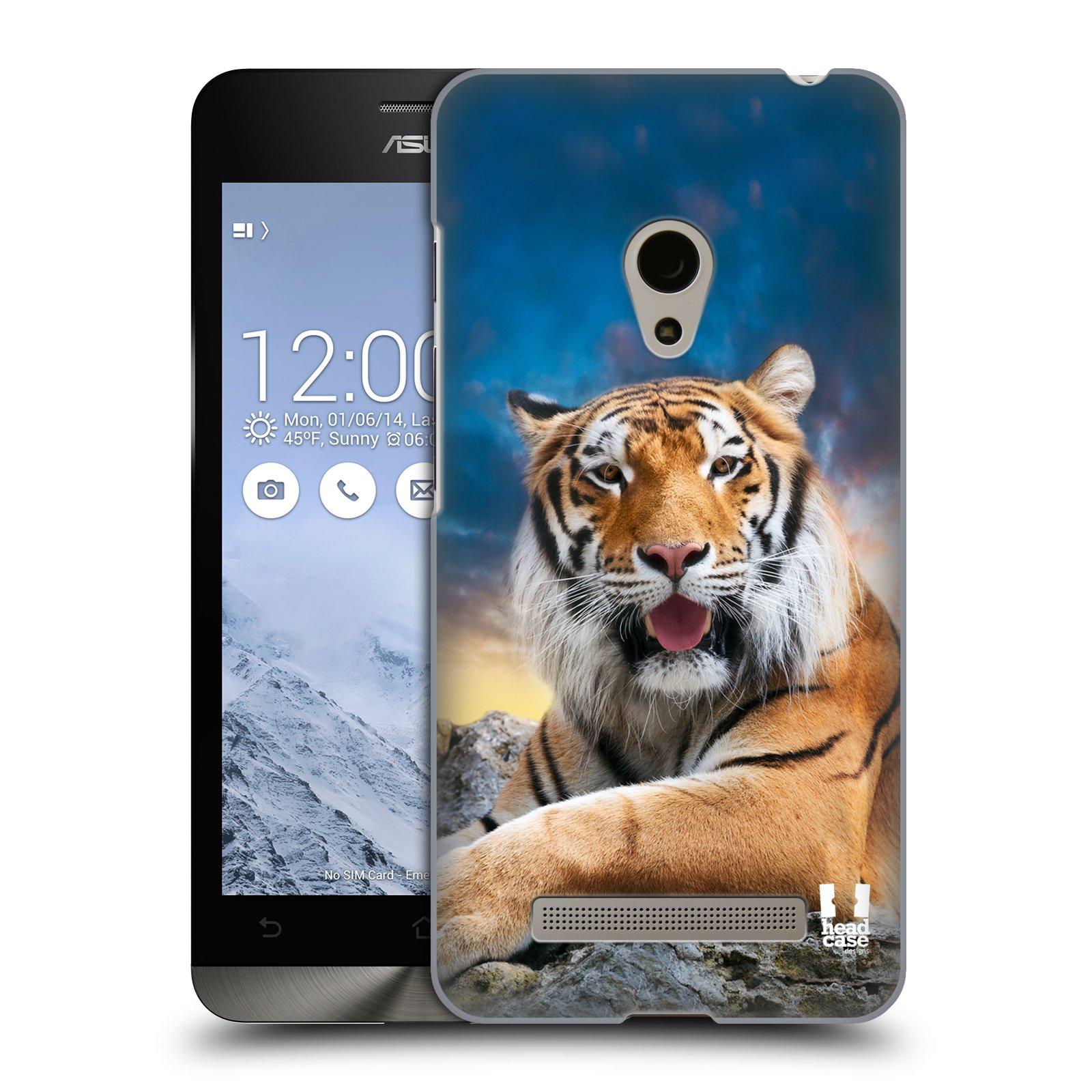 HEAD CASE plastový obal na mobil Asus Zenfone 5 vzor Divočina, Divoký život a zvířata foto TYGR A NEBE