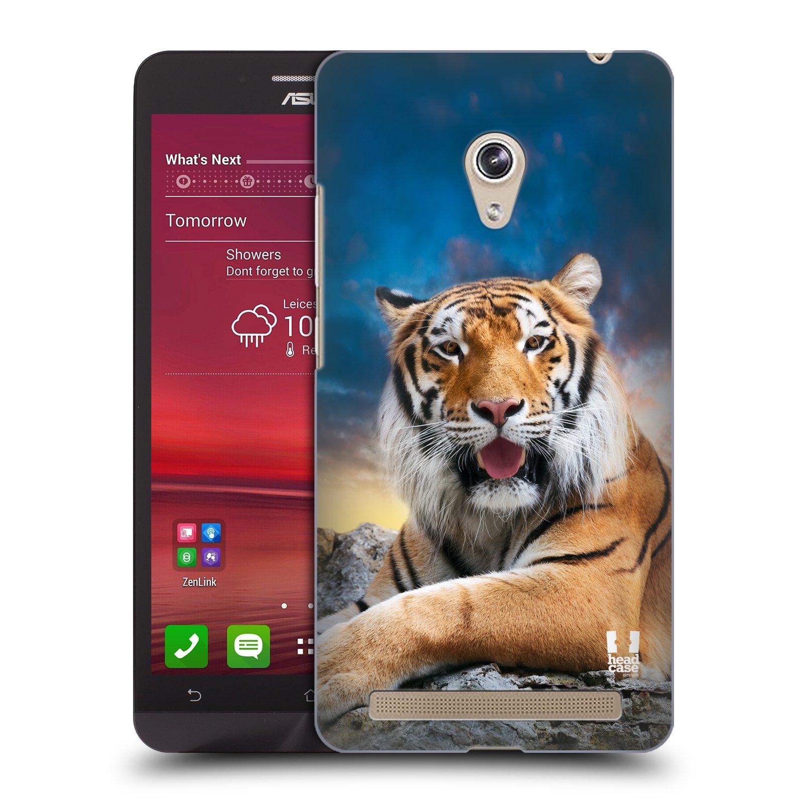 HEAD CASE plastový obal na mobil Asus Zenfone 6 vzor Divočina, Divoký život a zvířata foto TYGR A NEBE
