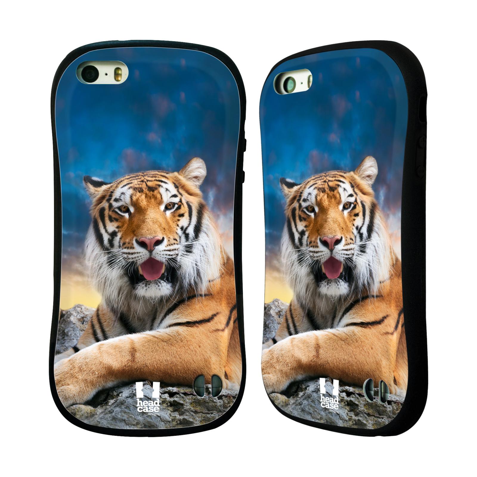 HEAD CASE silikon/plast odolný obal na mobil Apple Iphone 5/5S vzor Divočina, Divoký život a zvířata foto TYGR A NEBE